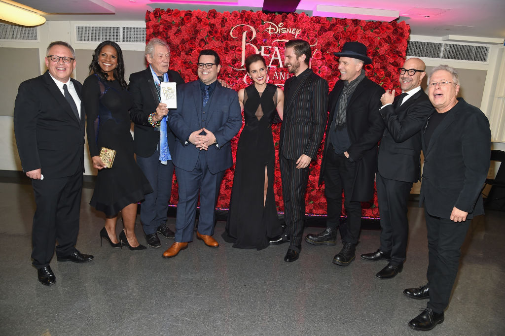 """Emma Watson, Dan Stevens, Kevin Kline, Josh Gad, Audra McDonald, Stanley Tucci, Ian McKellen, Bill Condon And Alan Menken  Arrive At Alice Tully Hall For The New York Special Screening Of Disney's Live-Action Adaptation """"Beauty And The Beast"""""""