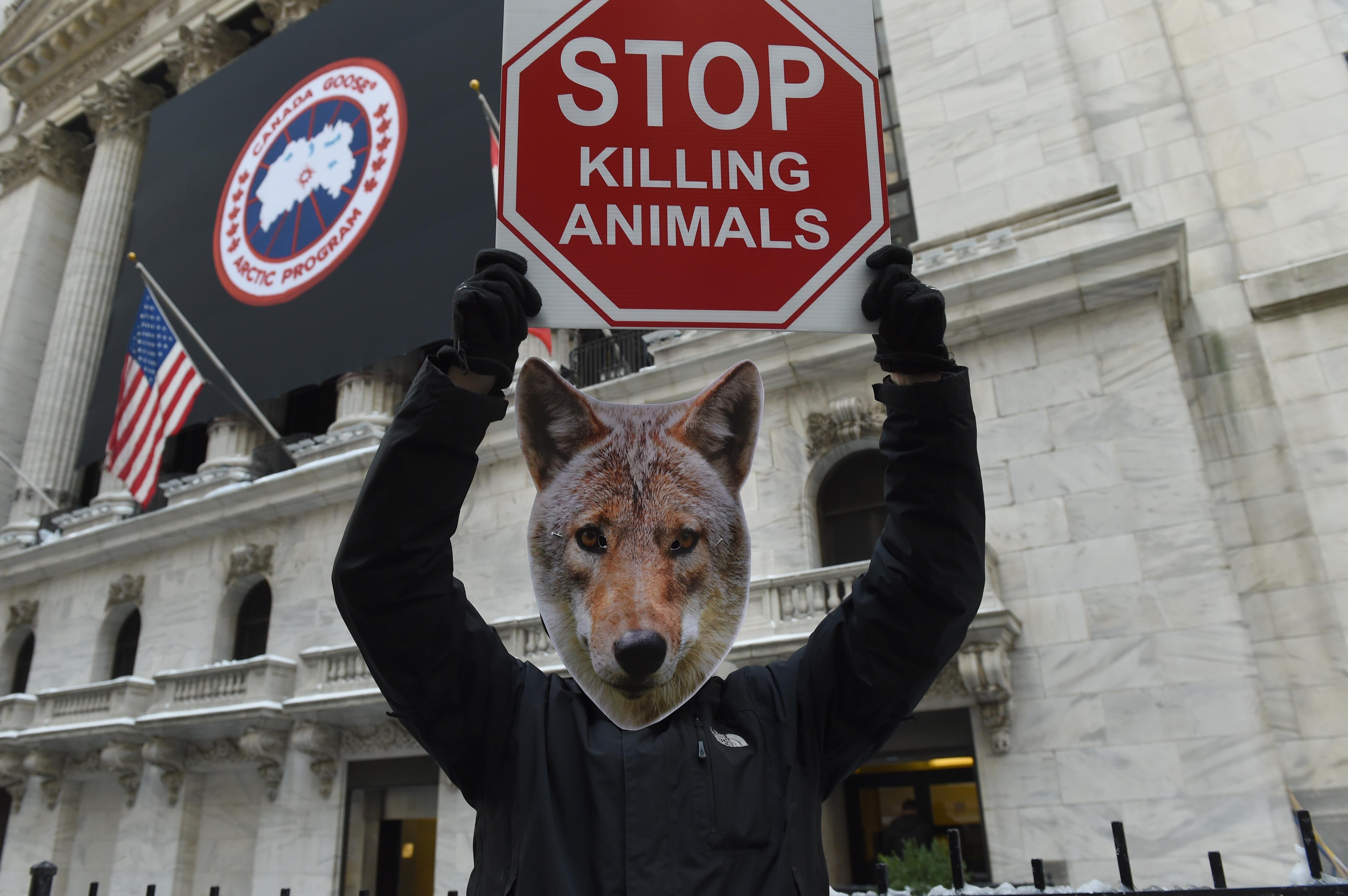 US-PETA-CANADA GOOSE-PROTEST