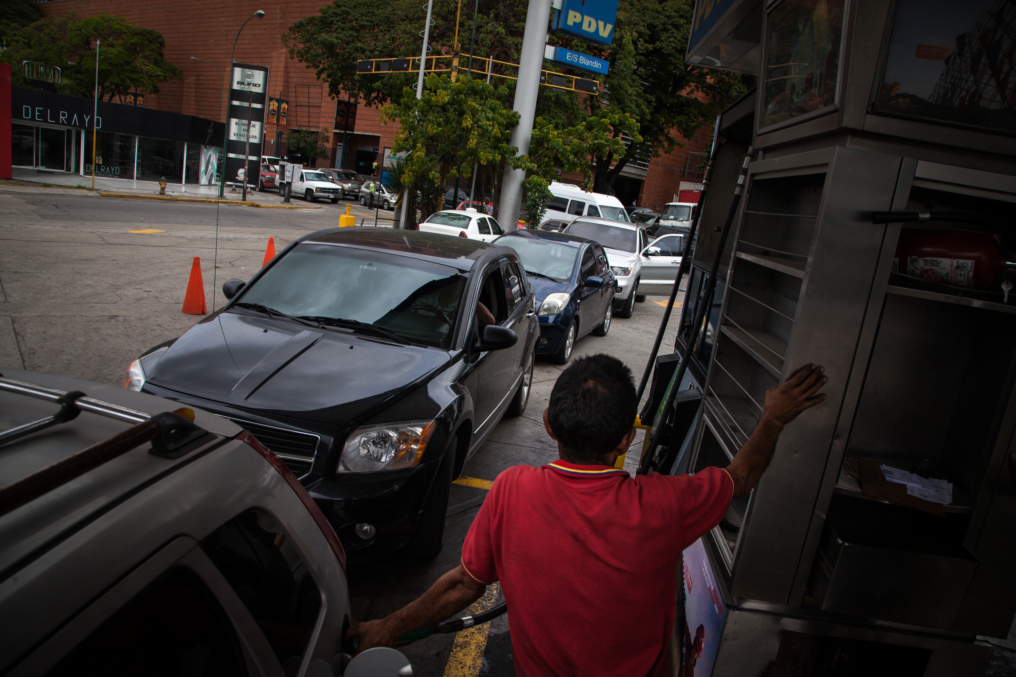 Gas Stations As Venezuela's Fuel Shortage Is Getting Worse