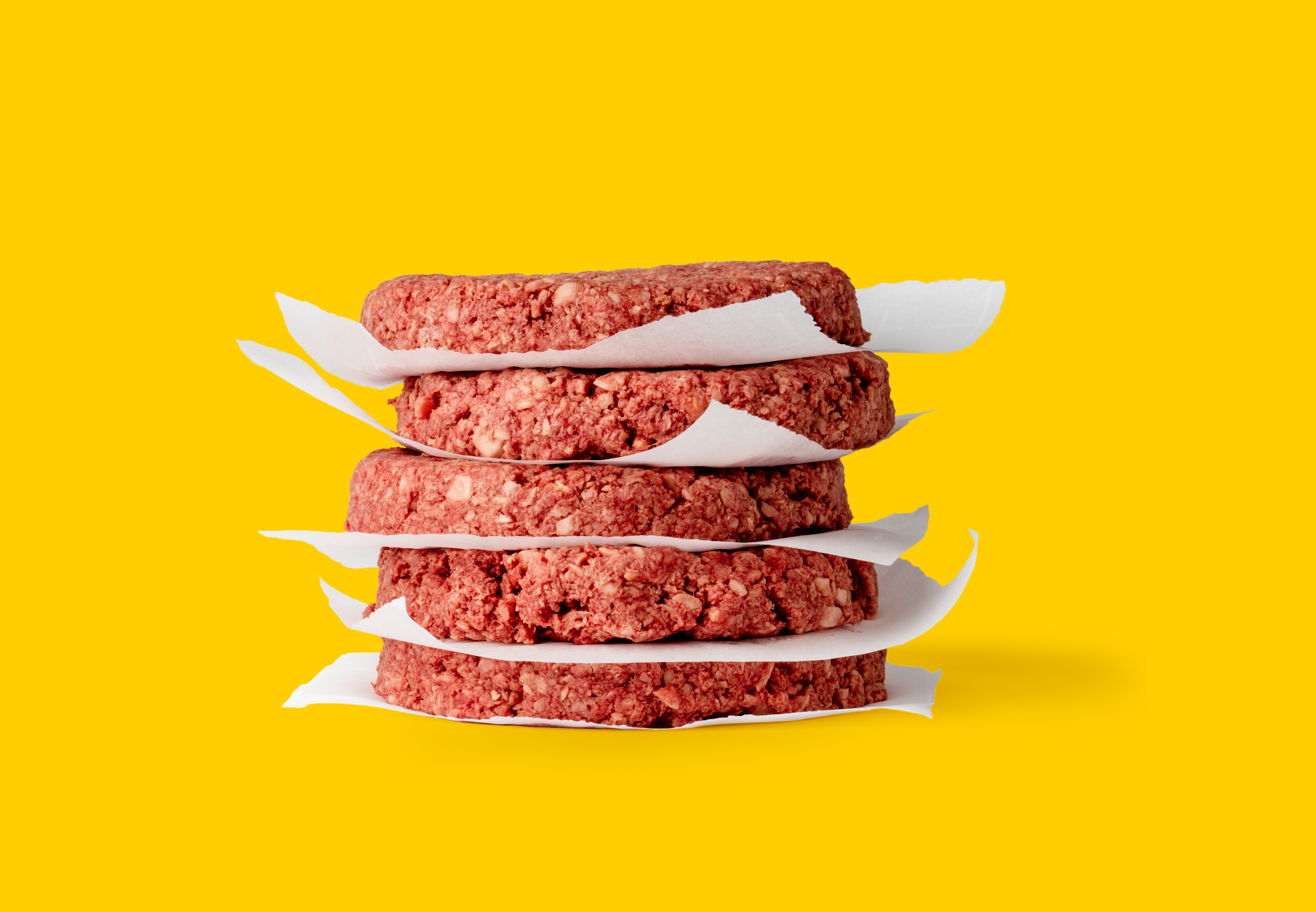 Impossible Foods meat-free burger patties.