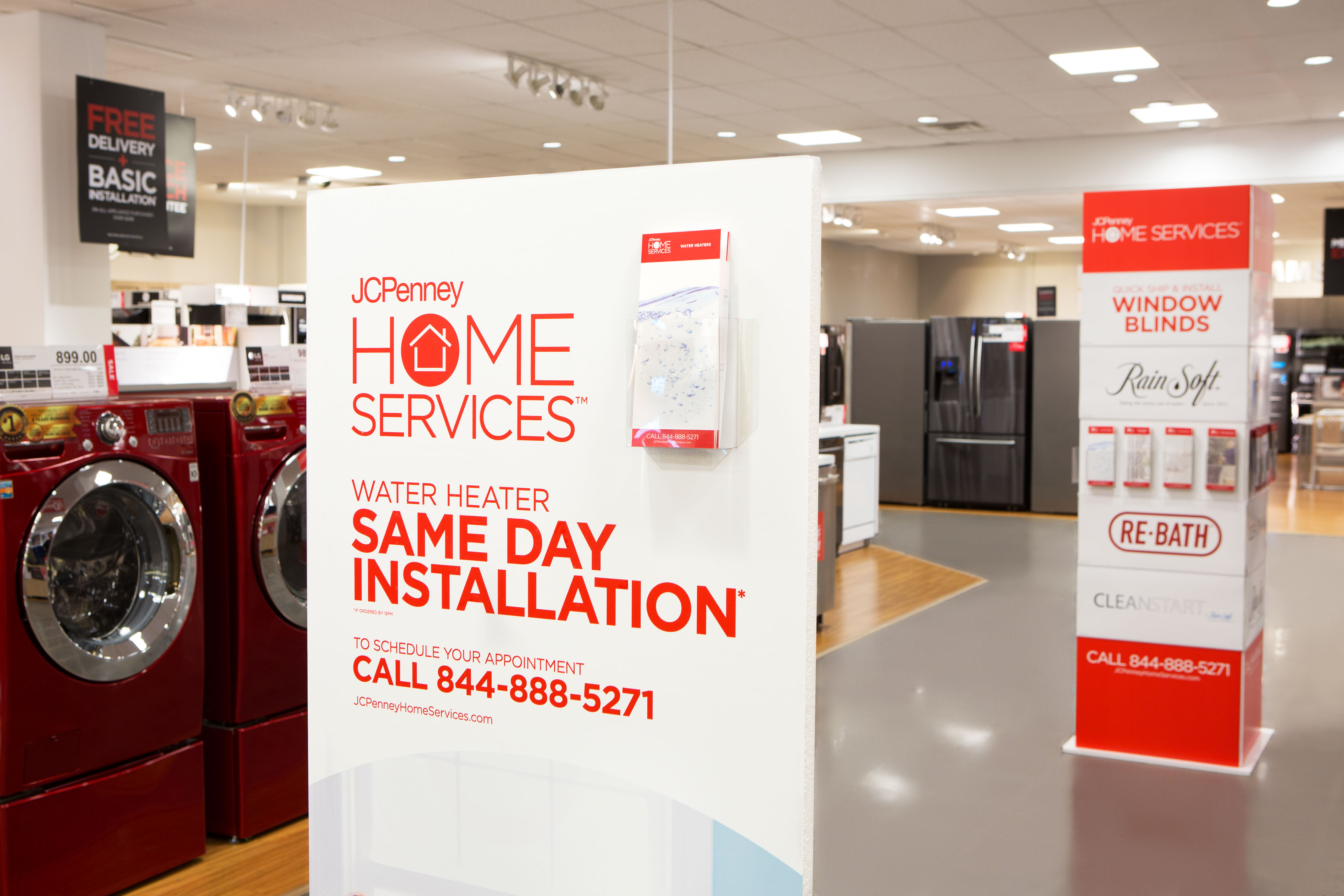 J.C. Penney is banking on home services to help it revive flagging sales.
