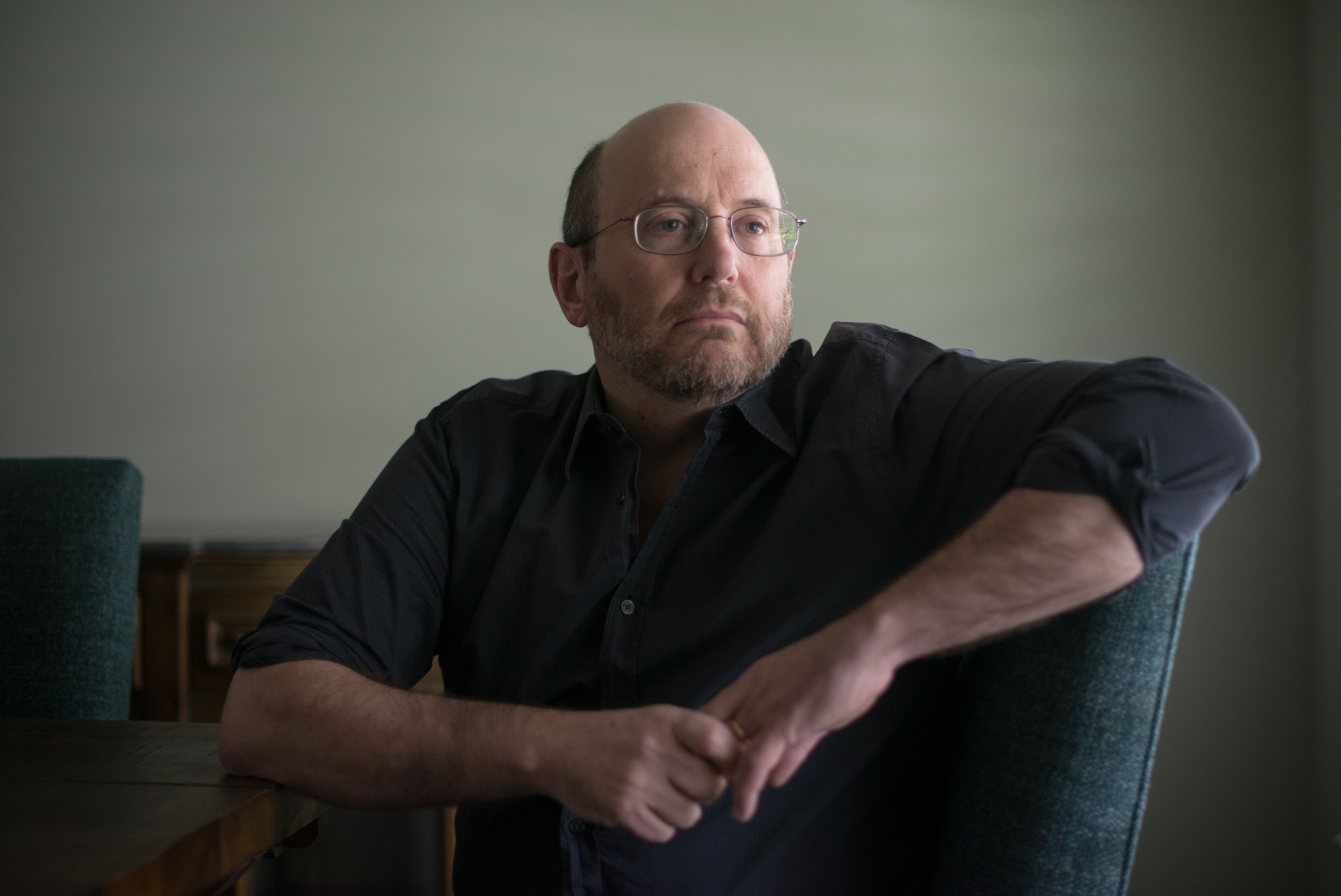 Kurt Eichenwald, an investigative journalist and prominent online critic of Donald Trump, at home in Dallas.