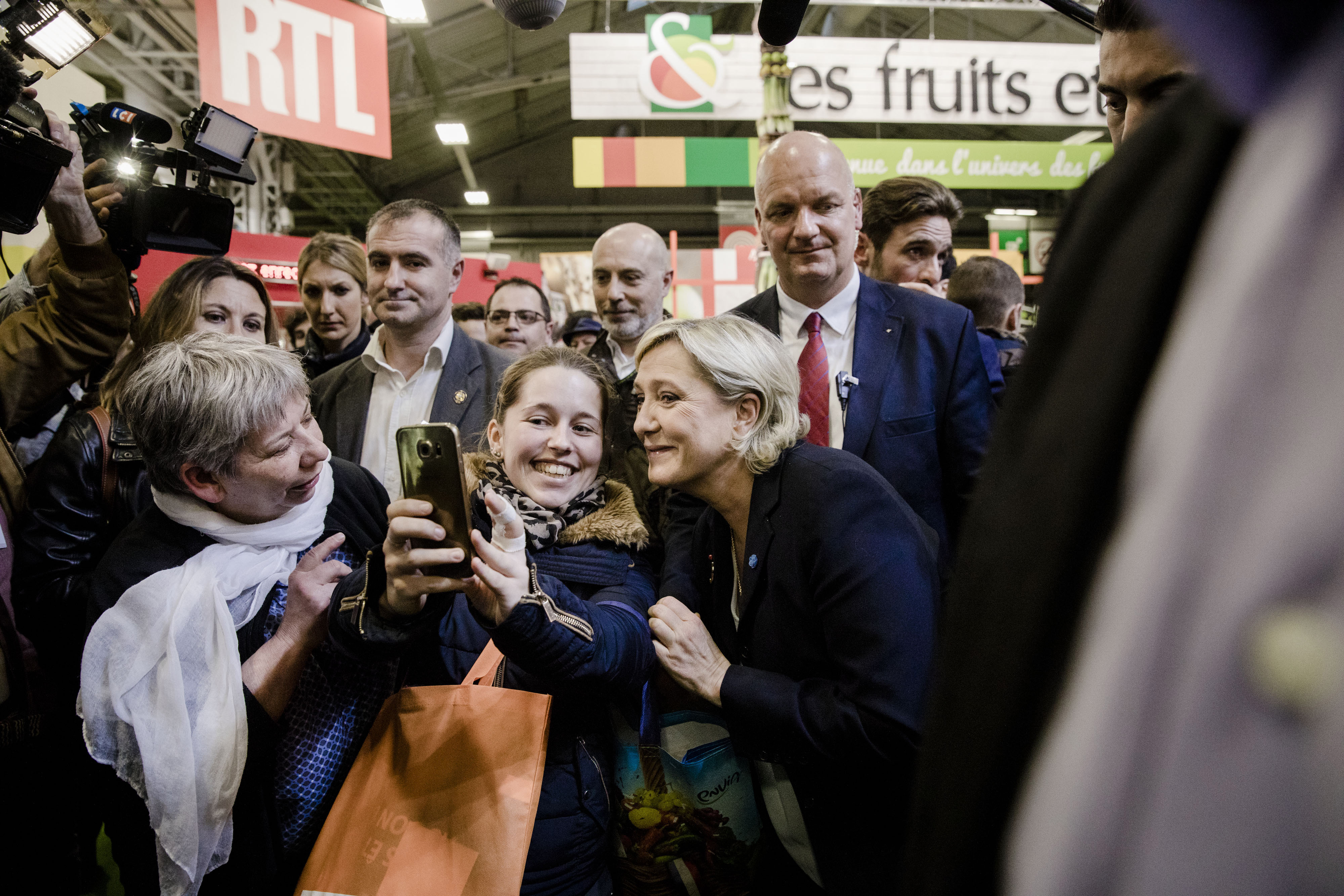 France's Presidential Candidate Marine Le Pen Visits International Agriculture Fair