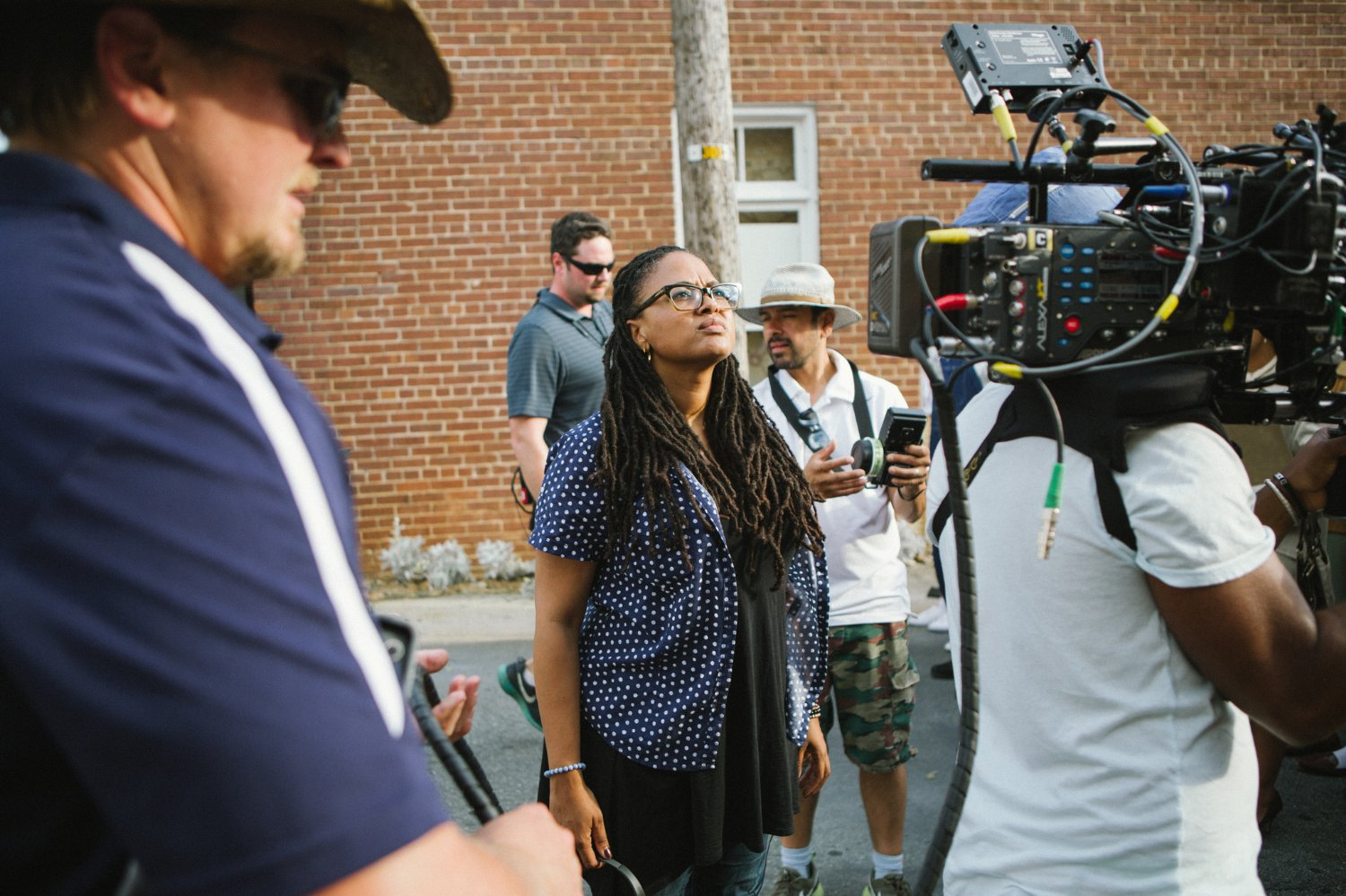 Director Ava DuVernay on set for Selma in 2014.