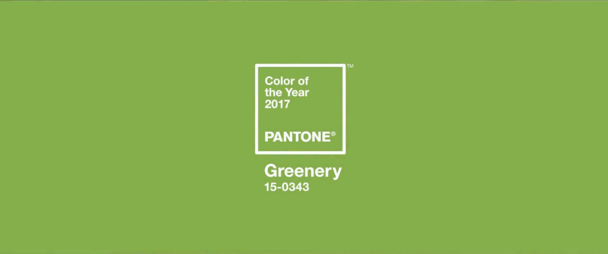 Pantone Color of Year 2017: Greenery