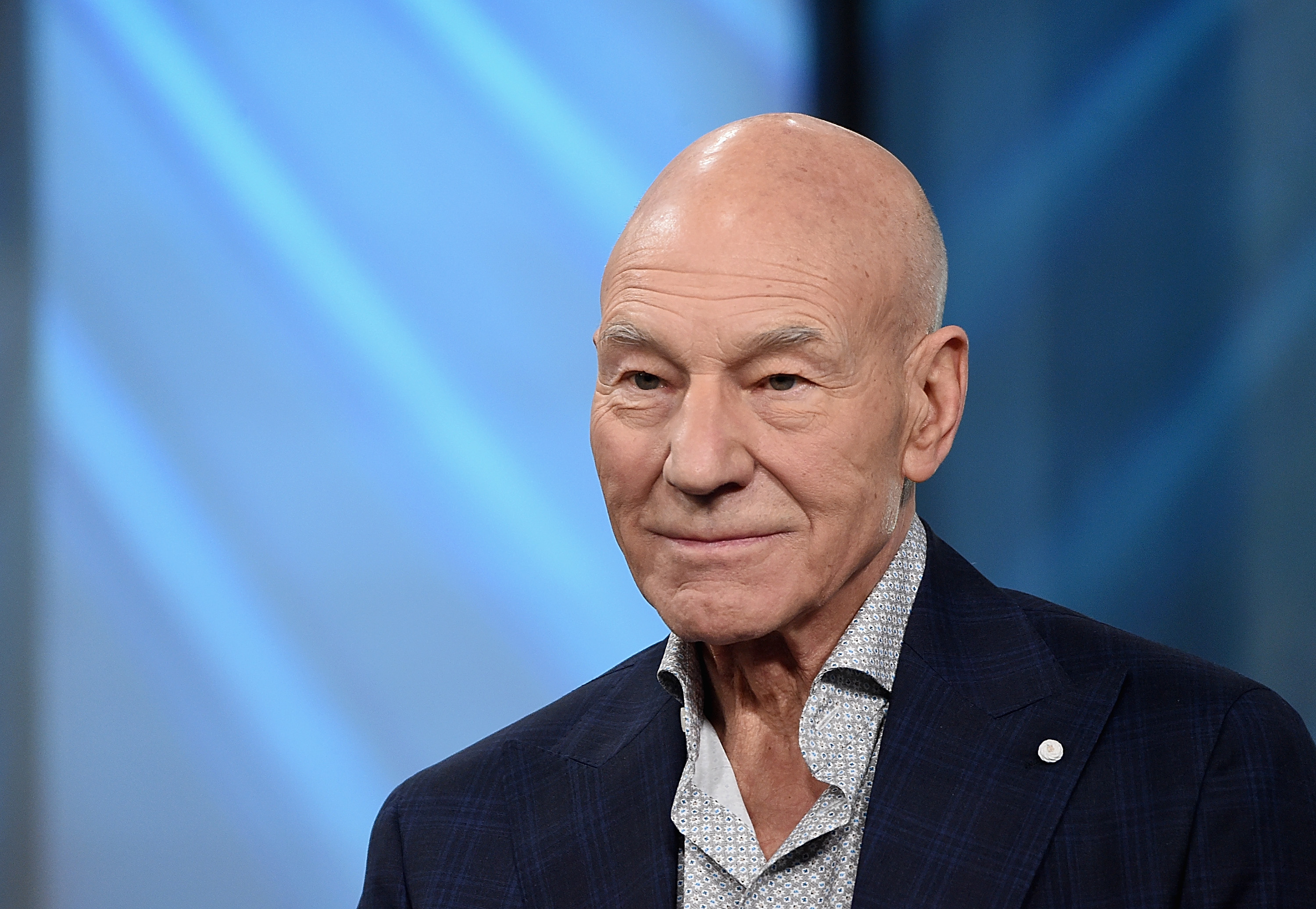 "Patrick Stewart attends the Build Series Presents Hugh Jackman And Patrick Stewart Discussing ""Logan"" at Build Studio on March 2, 2017 in New York City."