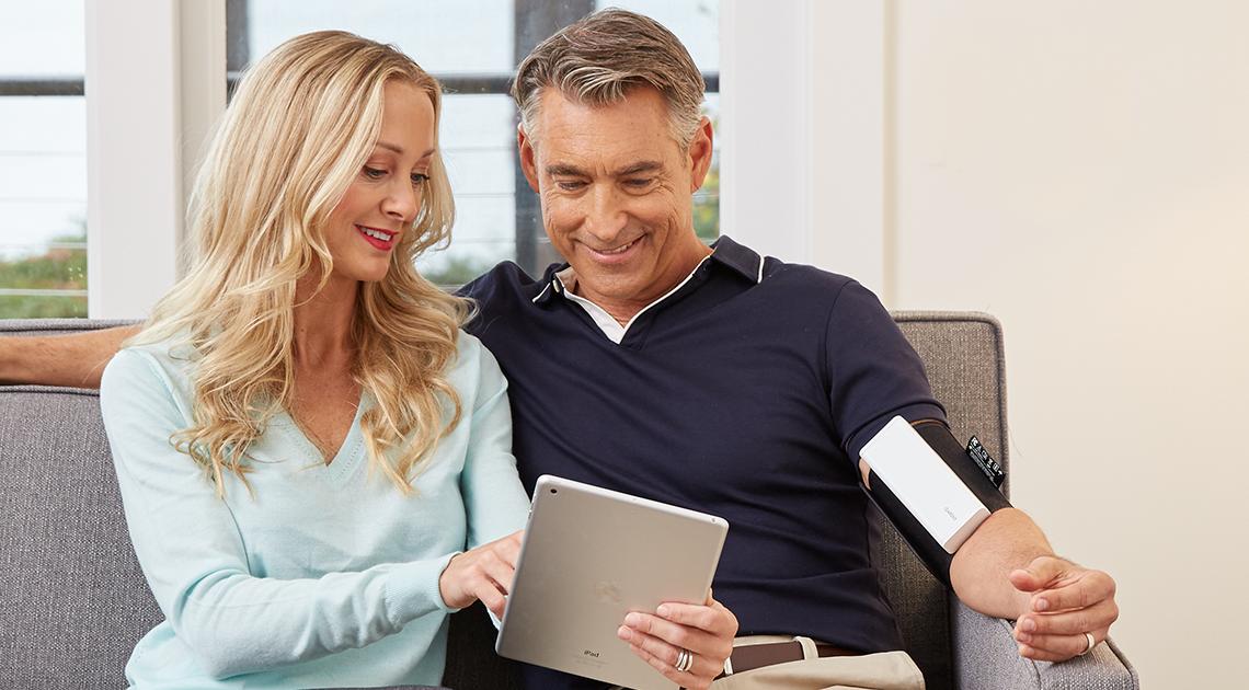 QardioArm helps monitor blood pressure.
