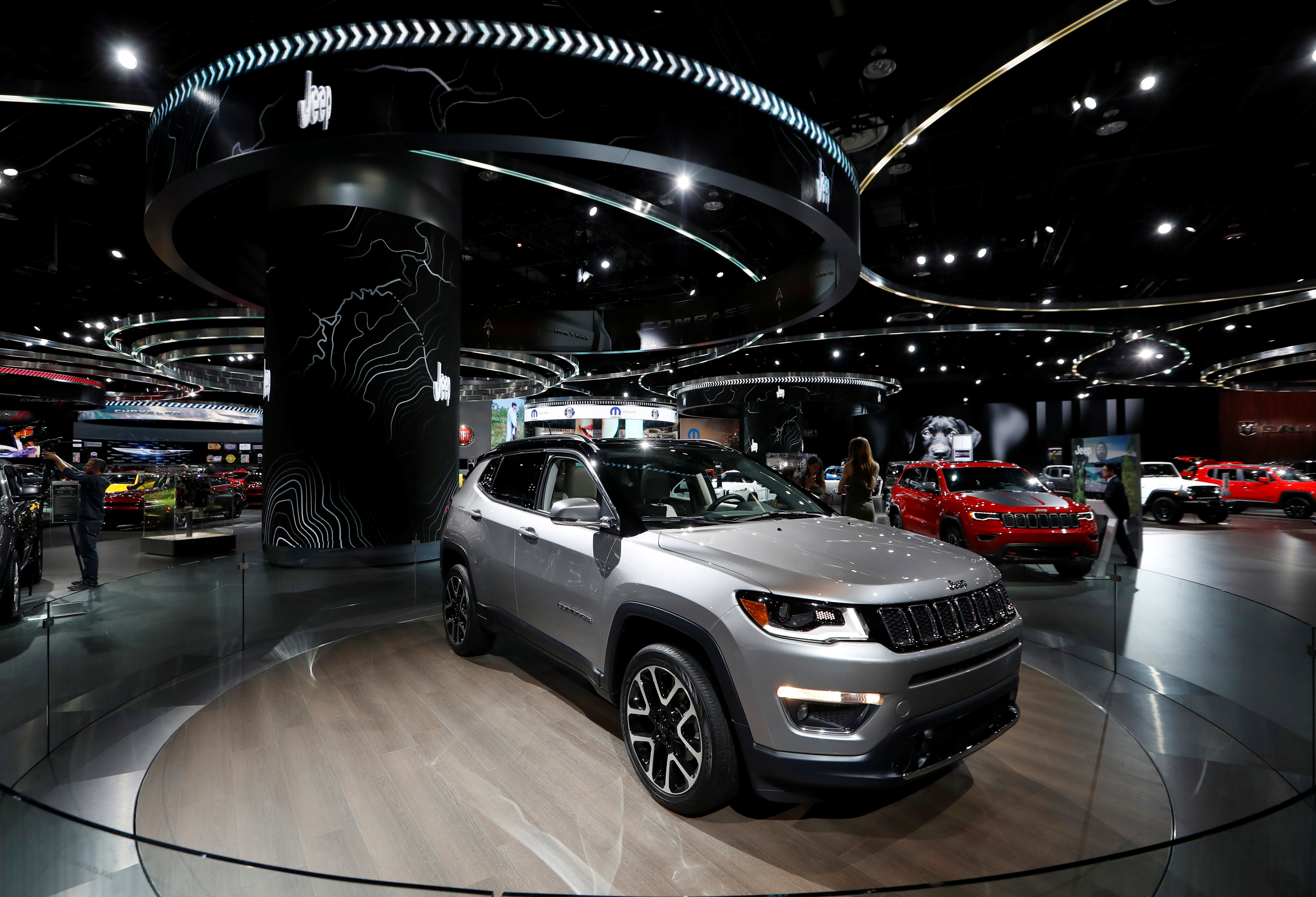 The 2017 Jeep Compass is displayed during the North American International Auto Show in Detroit