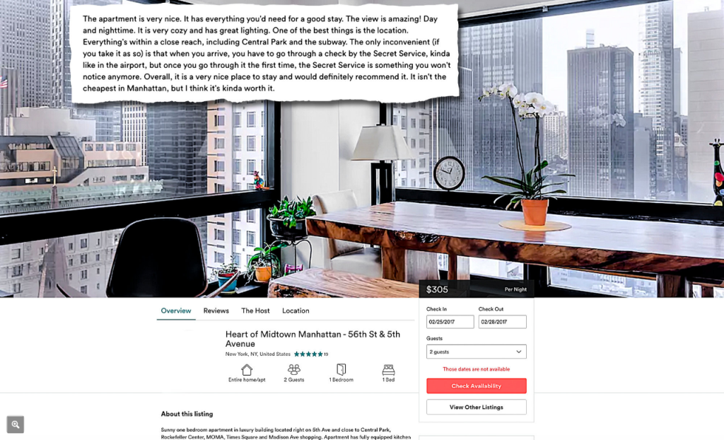 Trump tower airbnb