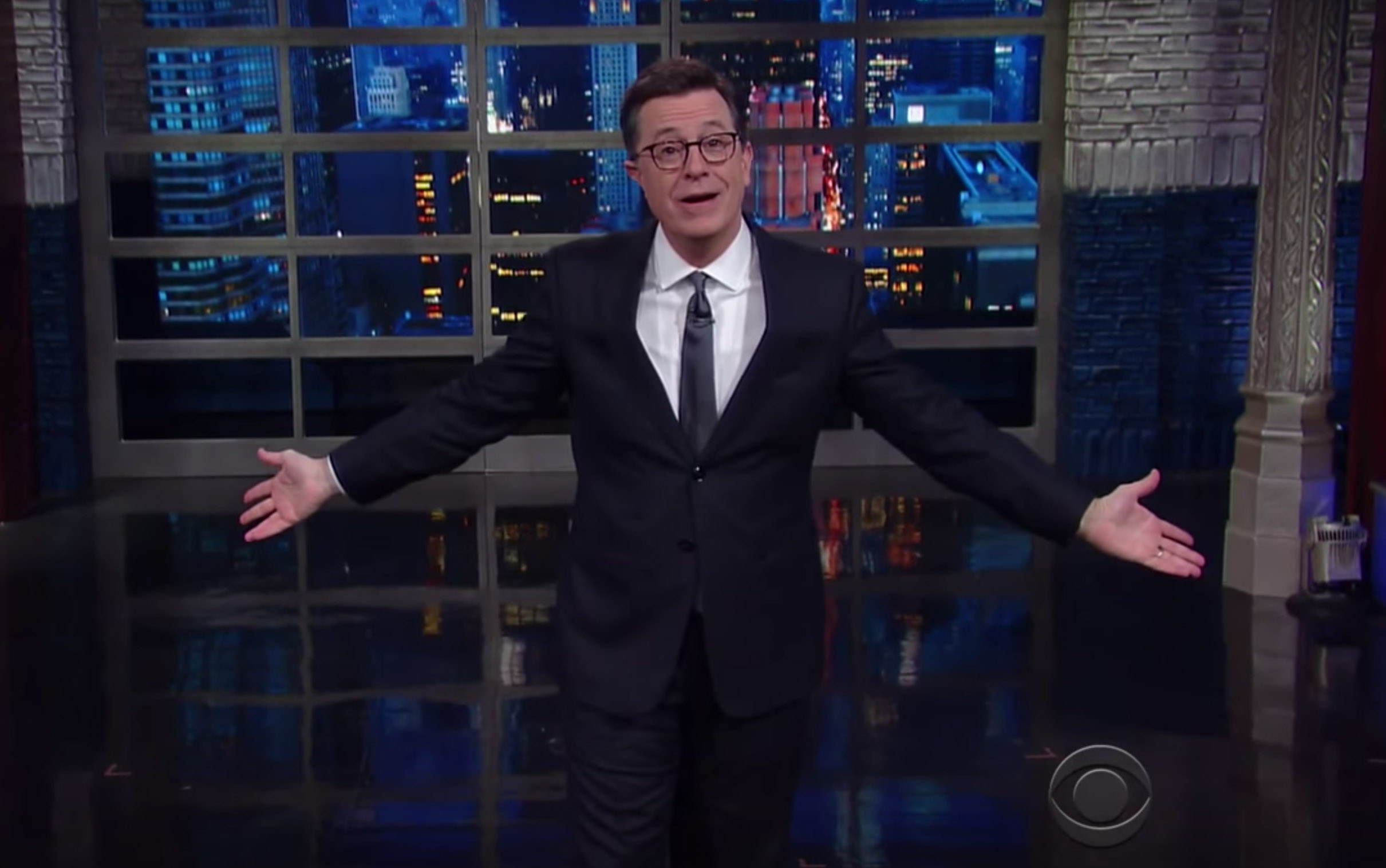 Stephen Colbert talks about Trump's Women Empowerment Forum
