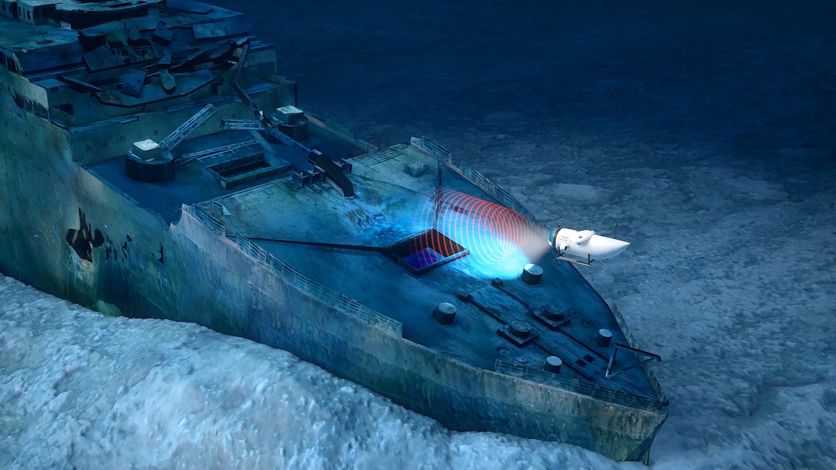 Illustration by Andrea Gatti—Titanic Survey Expedition