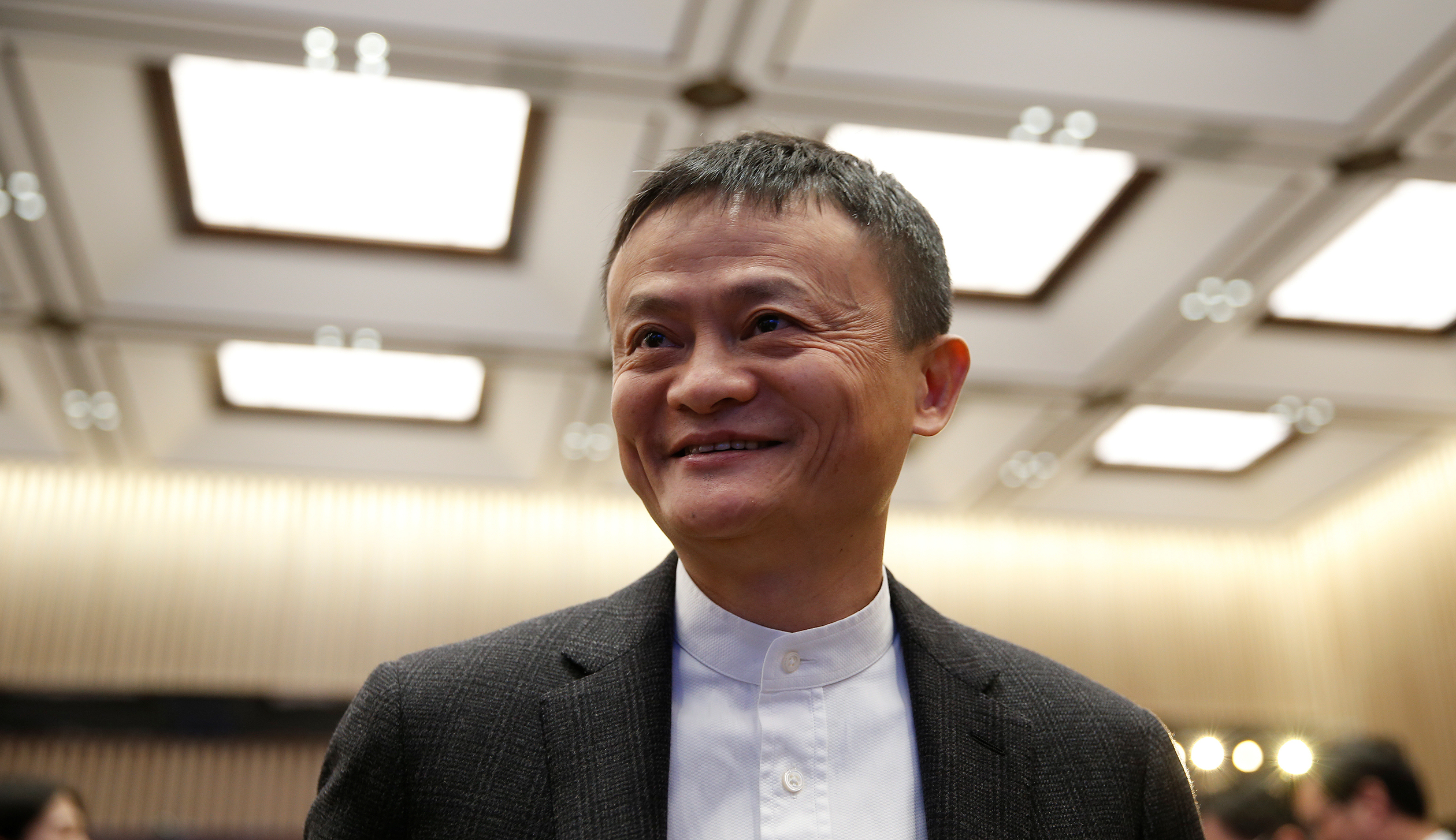 Founder and Executive Chairman of Alibaba Group Jack Ma attends the opening ceremony of the third annual World Internet Conference in Wuzhen town of Jiaxing