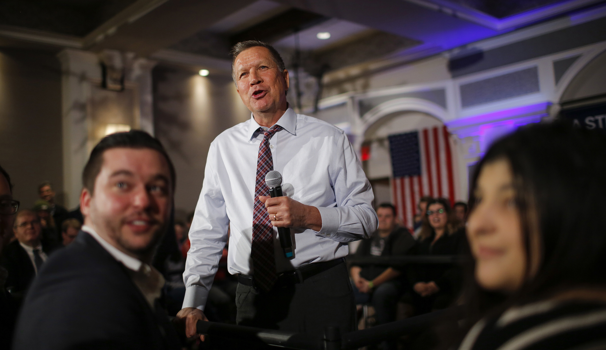 GOP Presidential Candidate John Kasich Holds Town Hall In Brooklyn