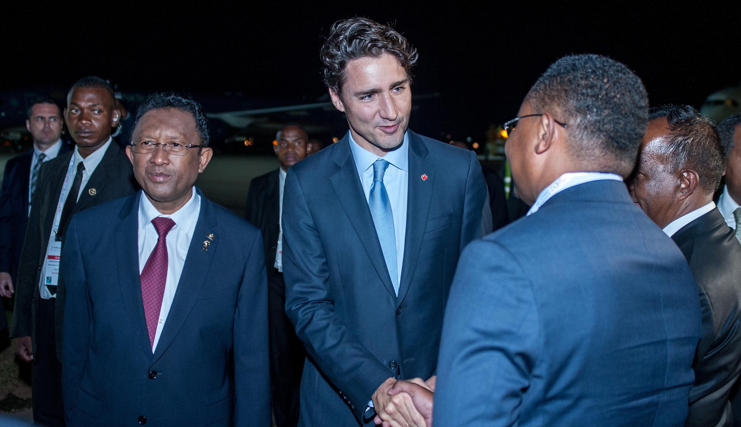 Canadian Prime Minister Justin Trudeau in Madagascar