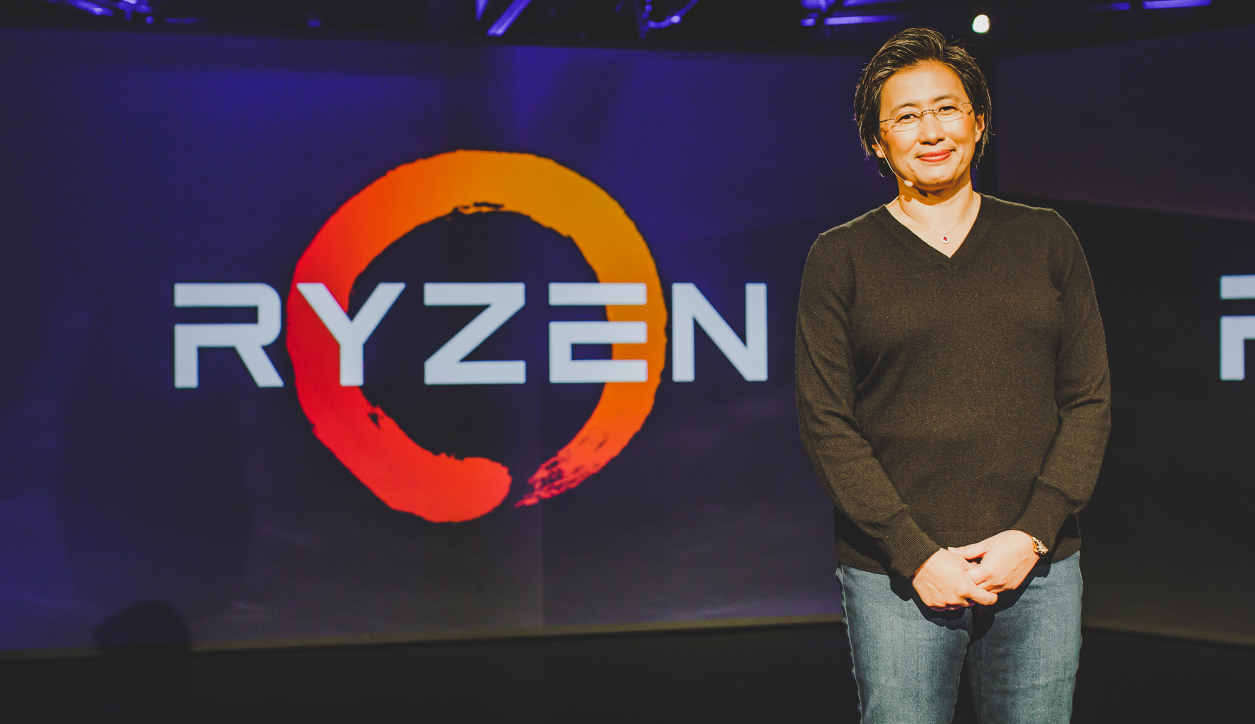 "AMD CEO Dr. Lisa Su unveils new details about upcoming Ryzen processors and delivers the first demonstration of next-generation graphics architecture ""Vega"" paired with a Ryzen processor at the company's New Horizon event on December 13, 2016."