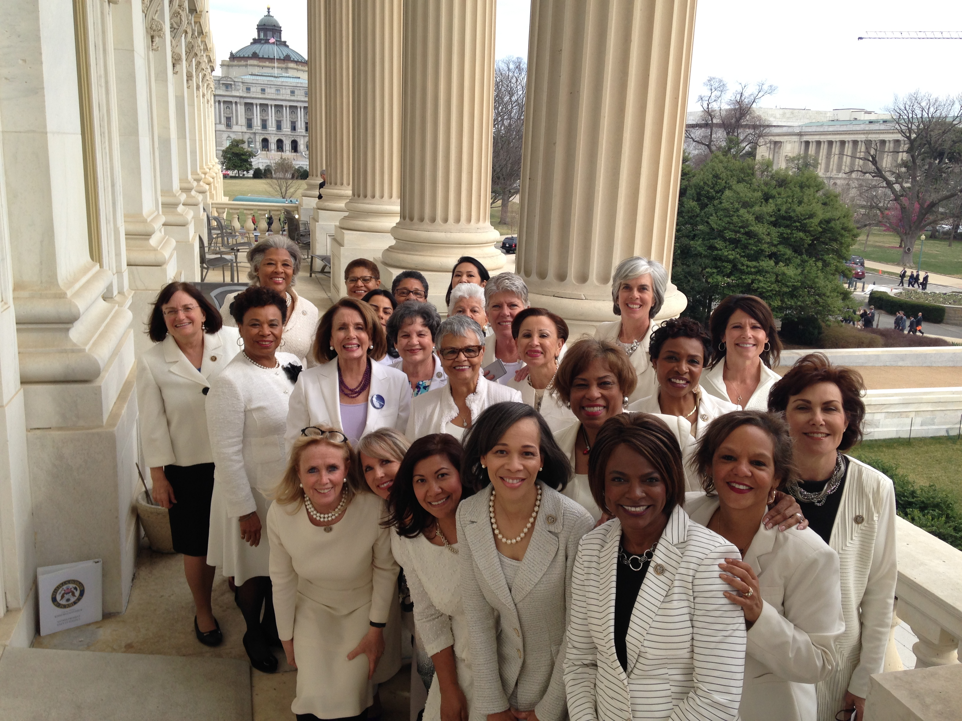 "Earlier this month, Democratic congresswomen wore white to ""stand in solidarity with the women of our nation."""