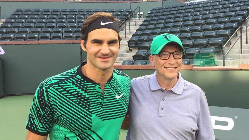 Roger Federer and Bill Gates