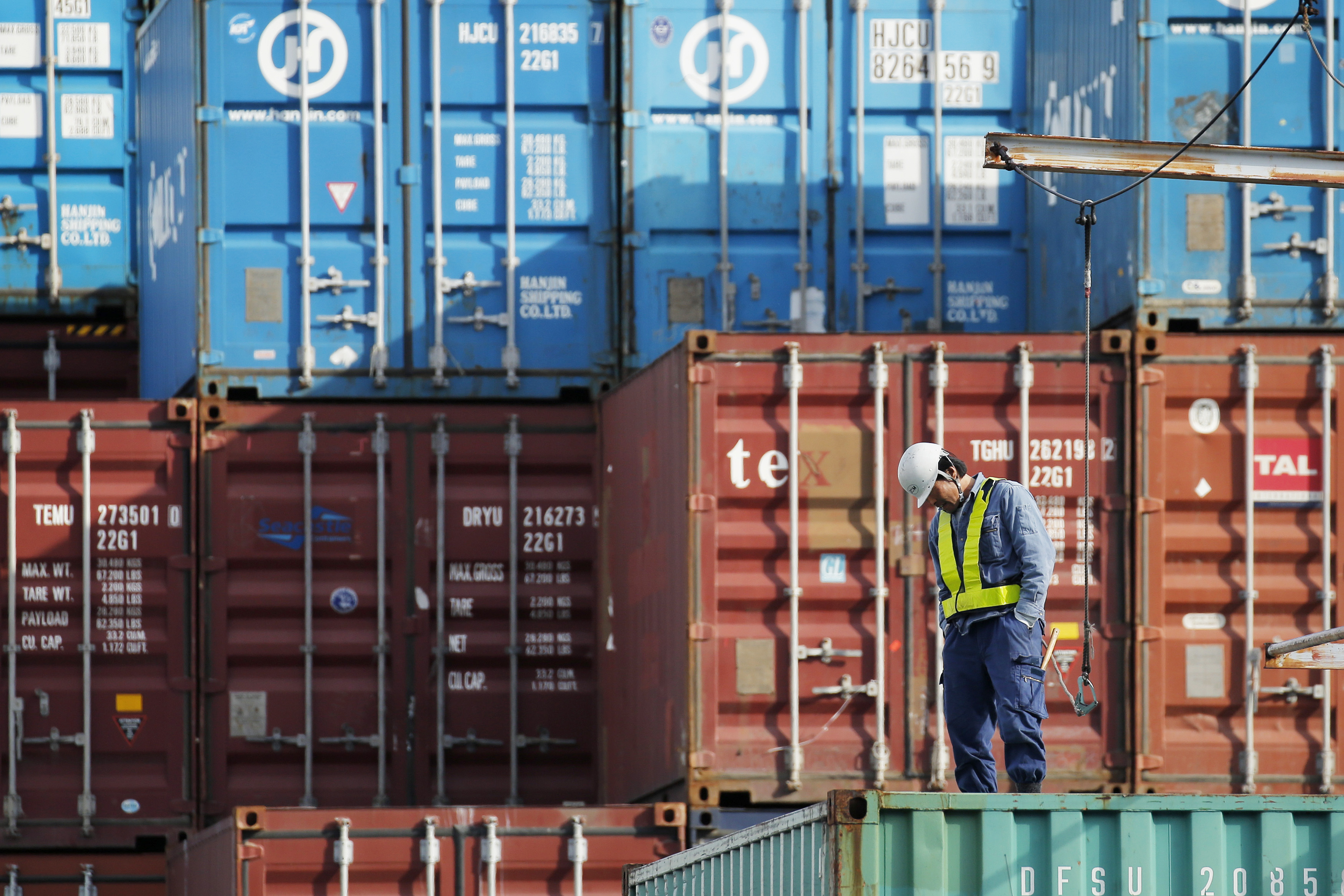Images Of Container Terminal Ahead Of The Release Of Japan Trade Figures
