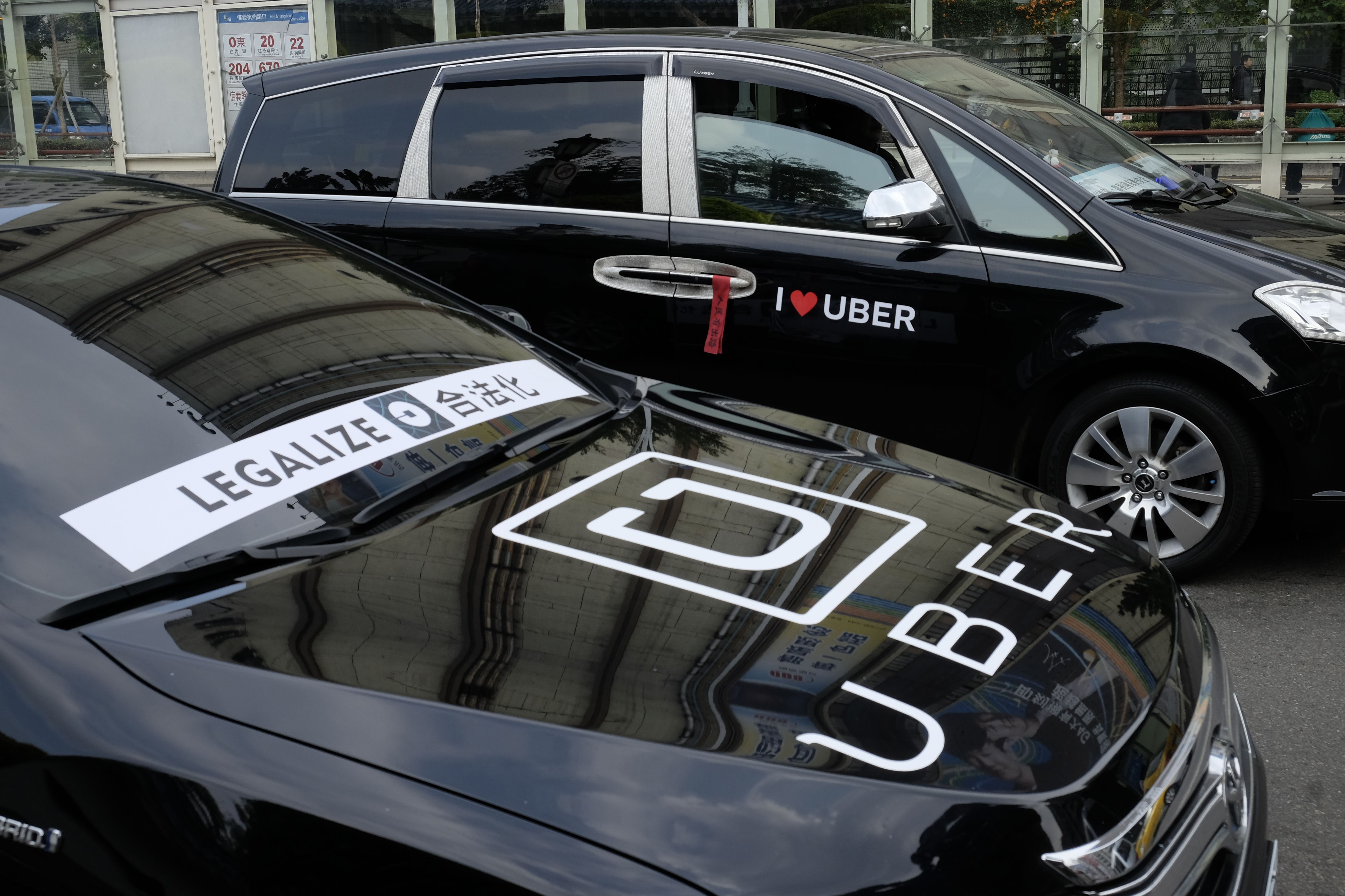 TAIWAN-TRANSPORT-UBER-TECHNOLOGY-PROTEST
