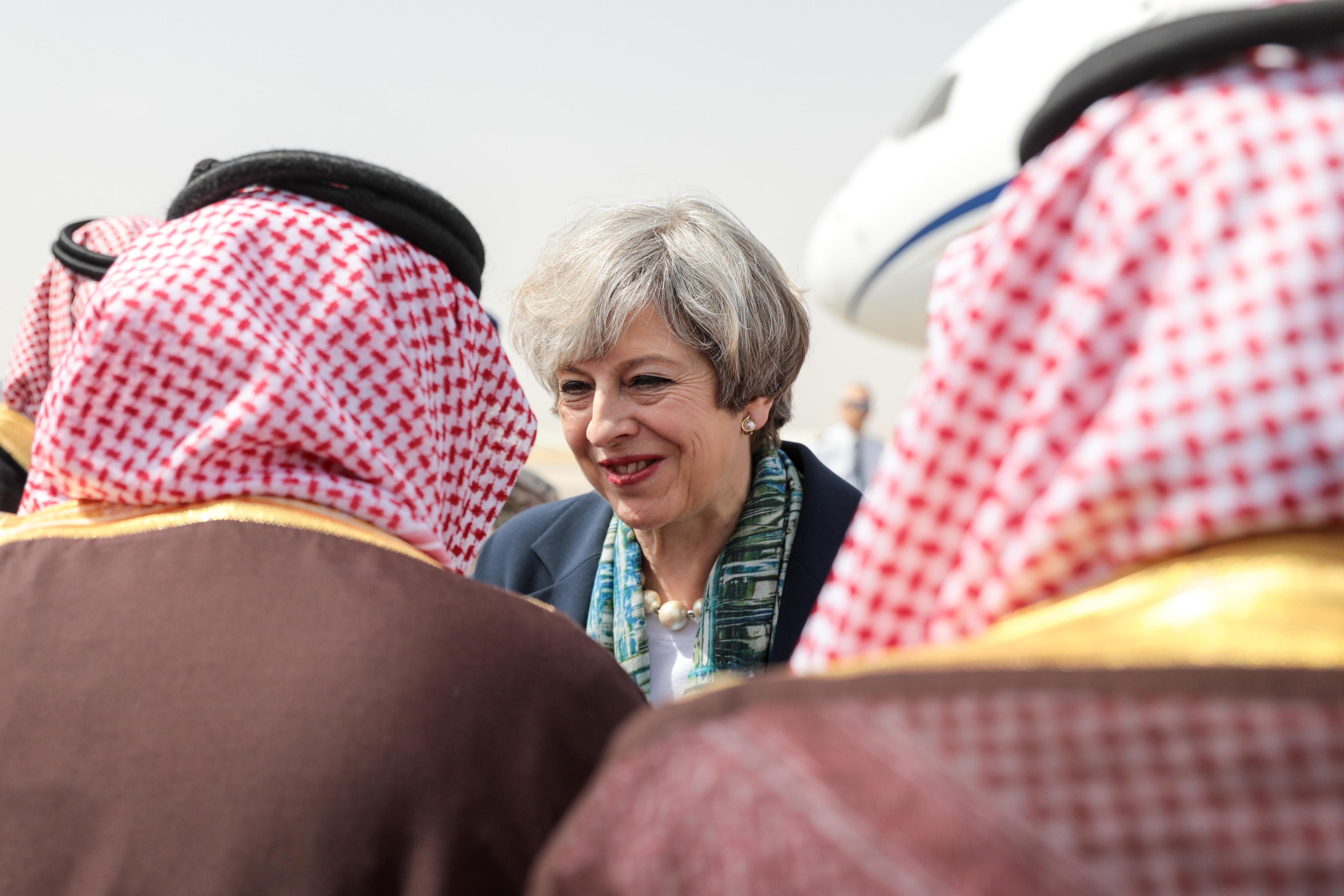 U.K. Prime Minister Theresa May Visits Jordan And Saudi Arabia To Promote Trade And Security