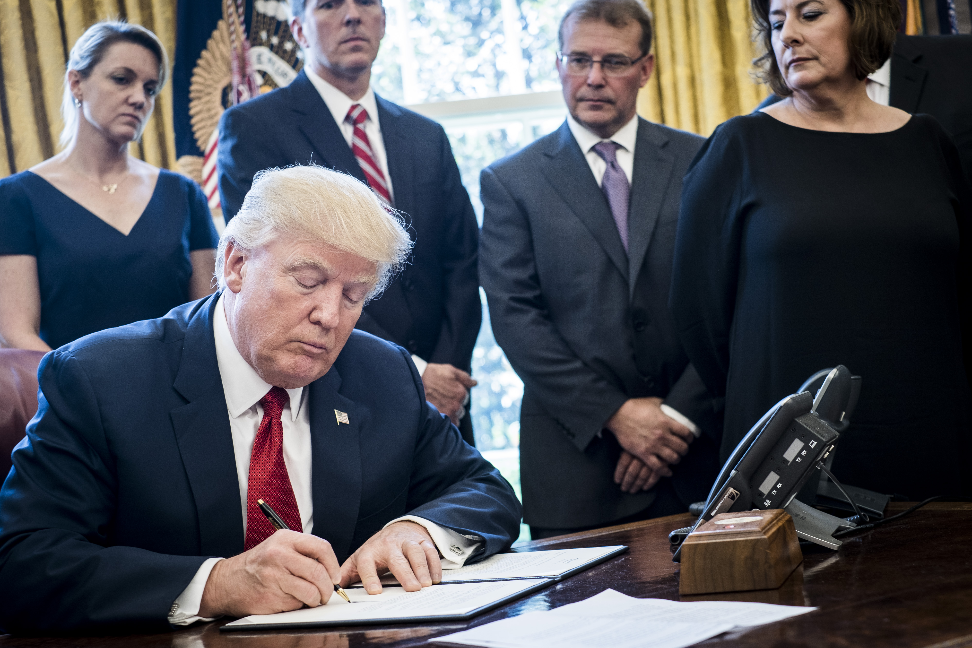 President Trump Signs Memo On Investigation Of Steel Imports
