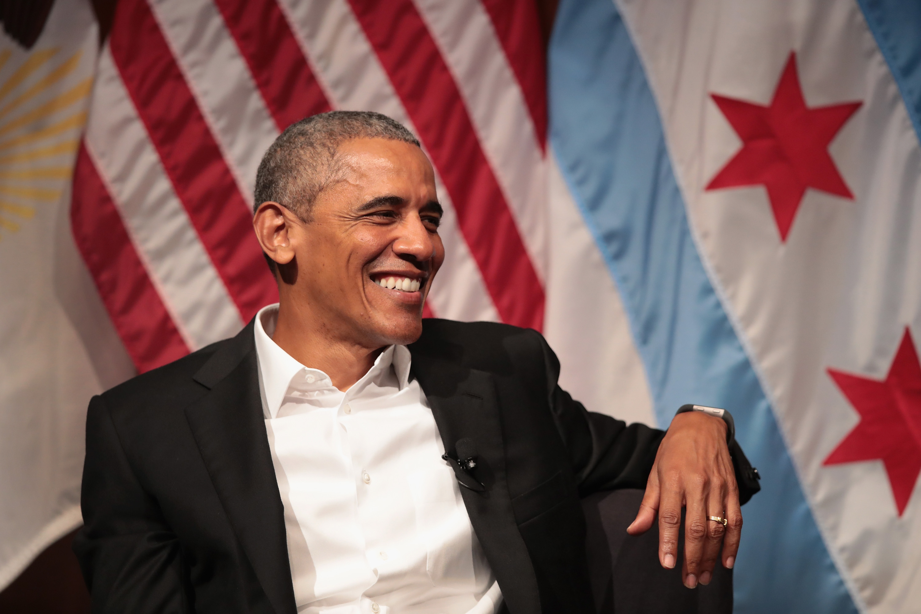 Former President Obama Speaks On Civic Engagement At The University Of Chicago