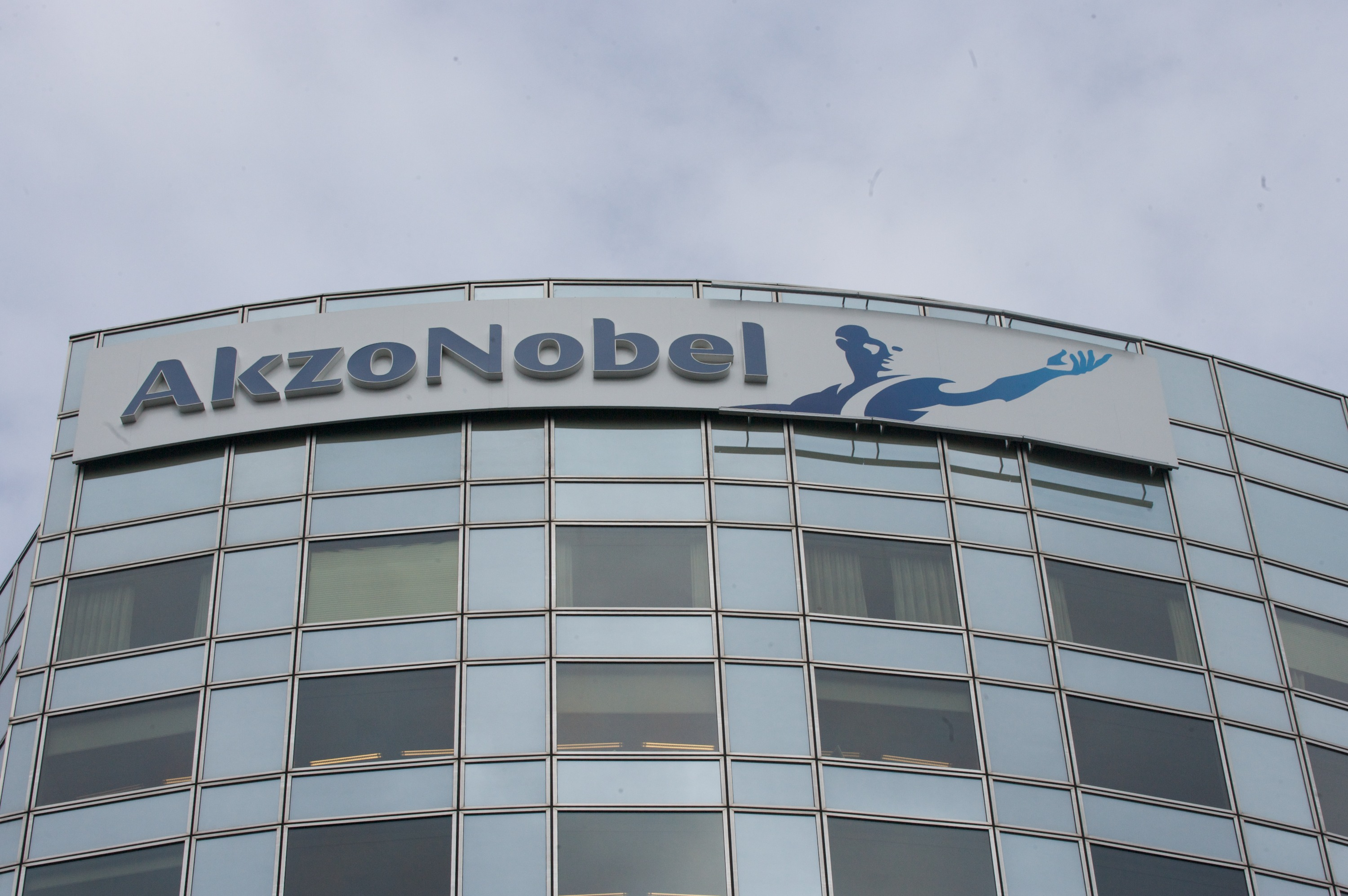 The headquarters of Akzo Nobel N.V. stand in Amsterdam, The