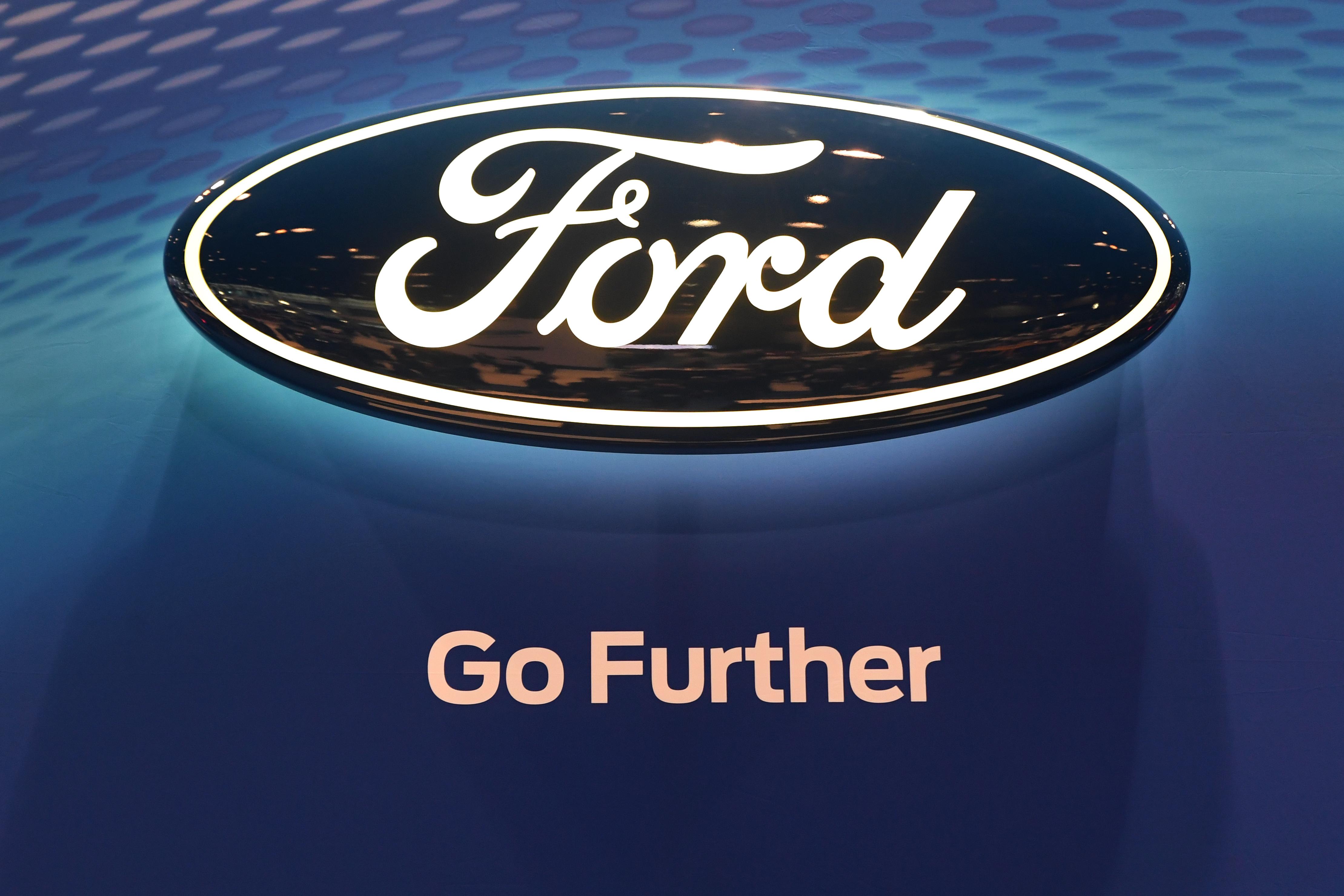 ford logo hybrid police car