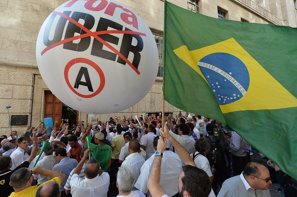 BRAZIL-STRIKE-TAXIS