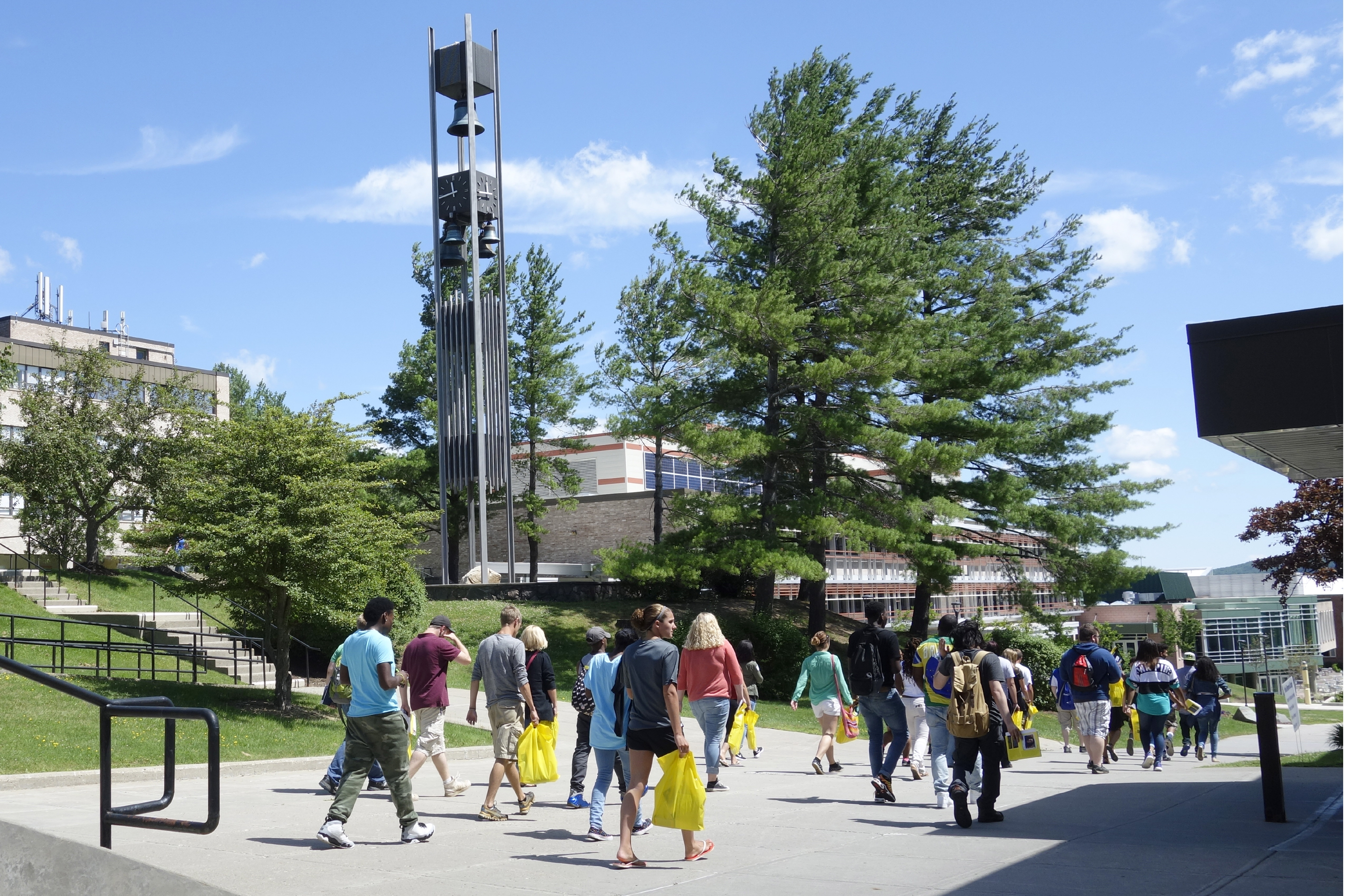 Students walking at Alfred State College