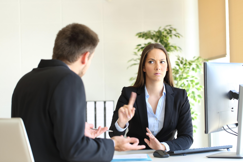 Woman refusing advice