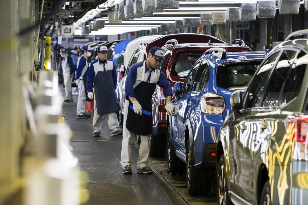 Subaru Vehicles Production Ahead of Tankan Announcement