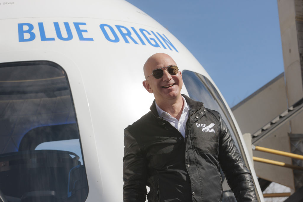 Amazon Chief Executive Officer Jeff Bezos Introduces The Blue Origin New Shepard System