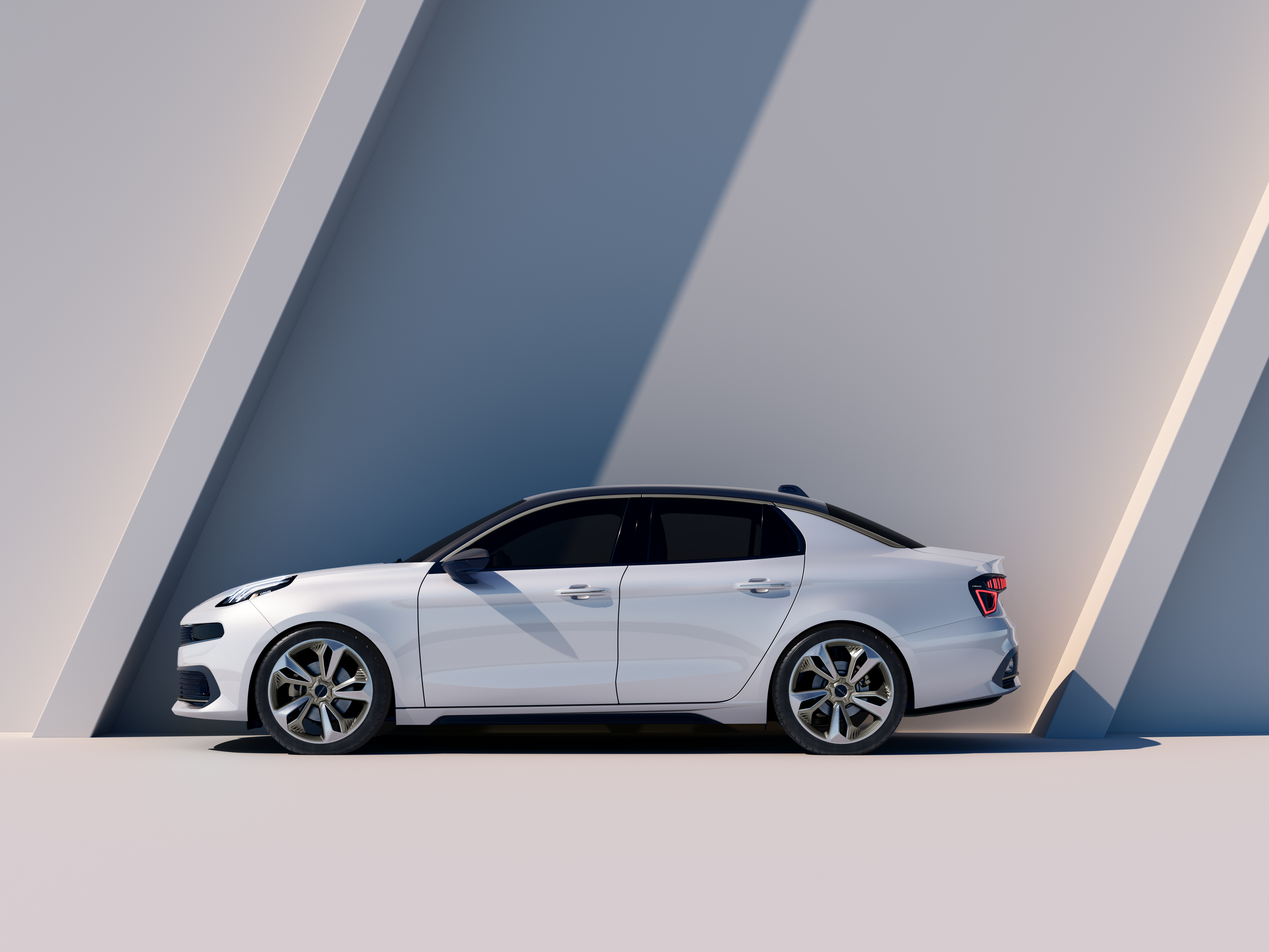 Lynk & Co. unveiled its latest concept the 03 ahead of the Shanghai Auto Show on april 16, 2017.