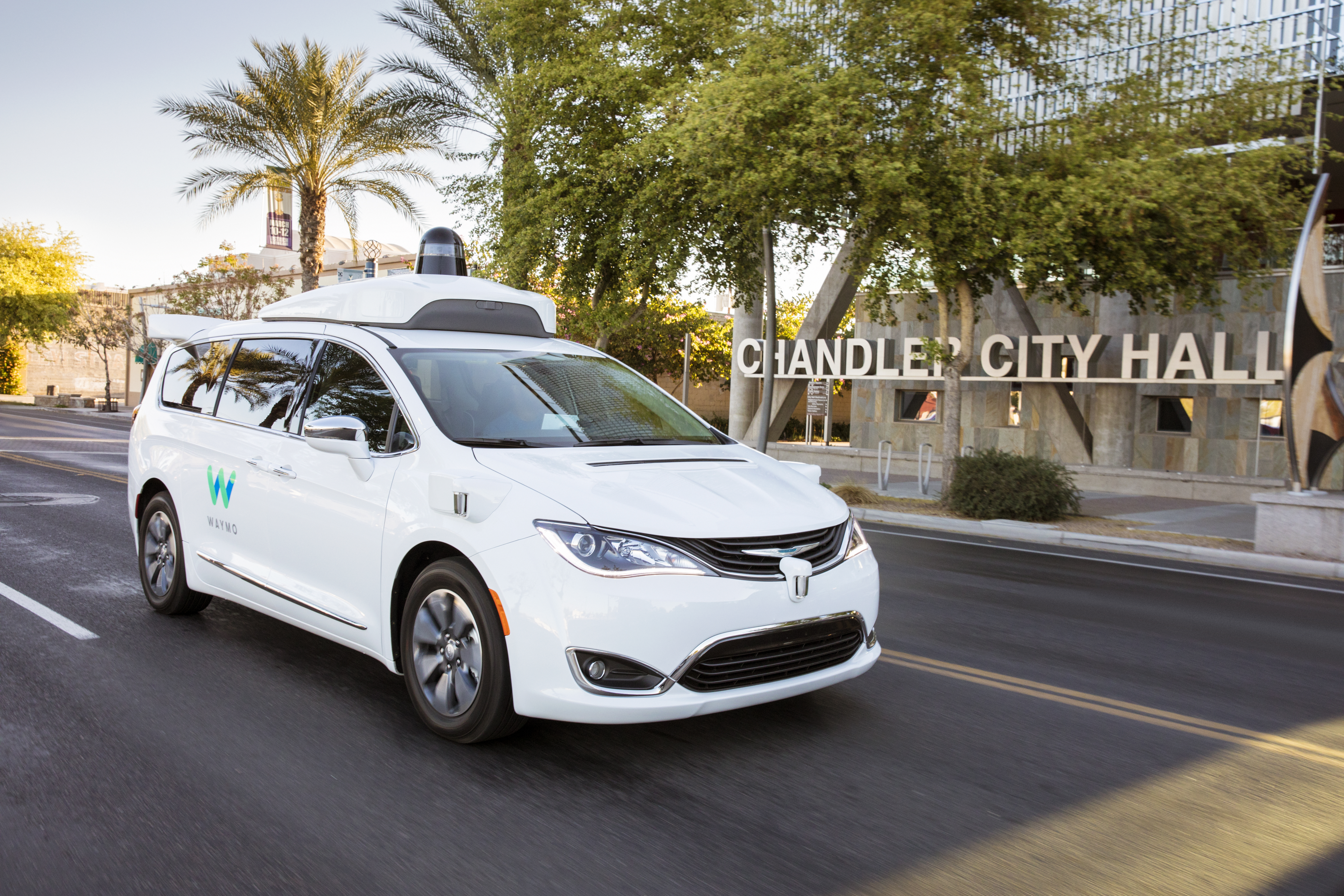 Waymo launched its first public trial of self-driving vehicles in Chandler, Ariz., and other communities in the greater Phoenix area.