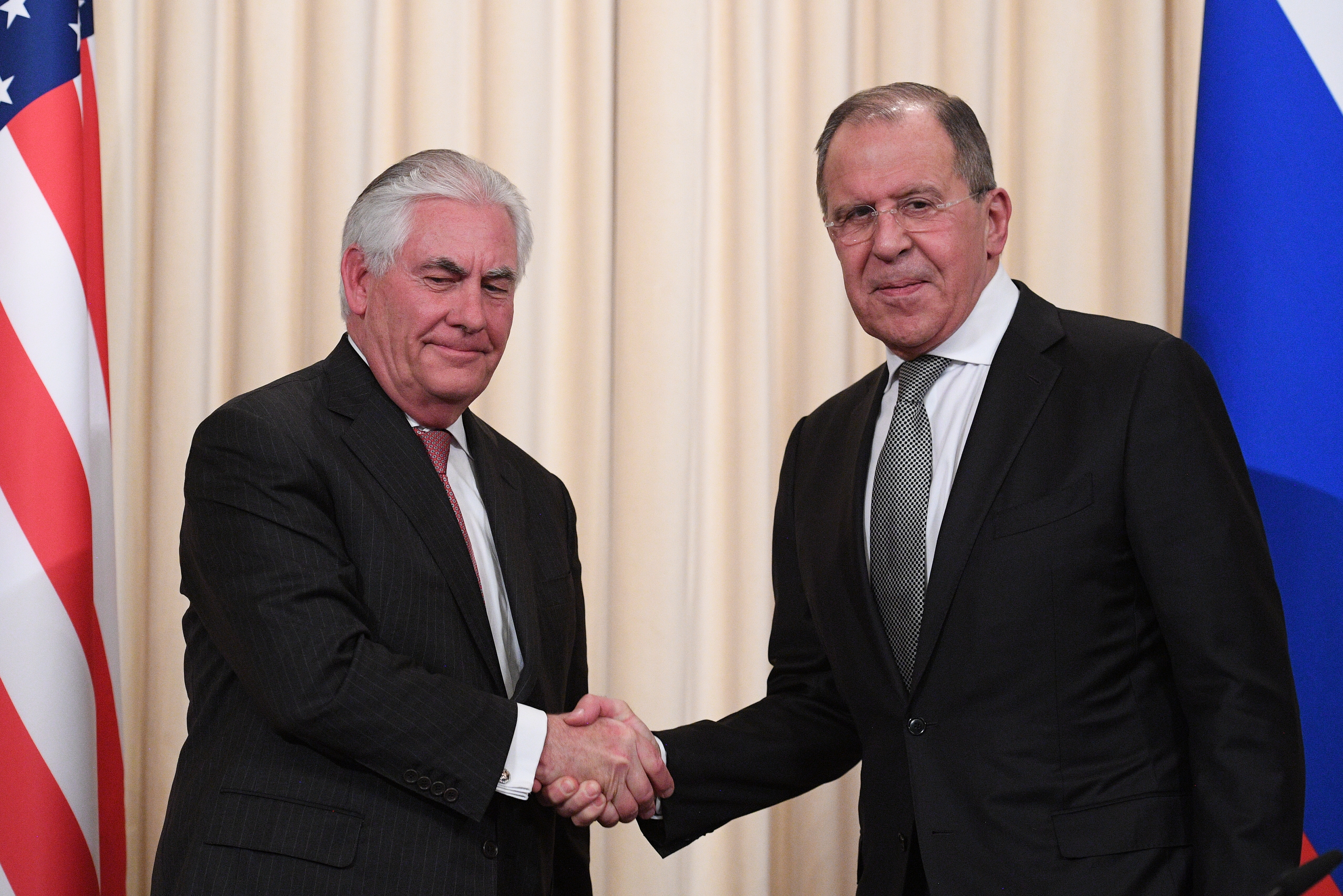 News conference by Russian Foreign Minister Sergei Lavrov and U.S. Secretary of State Rex Tillerson