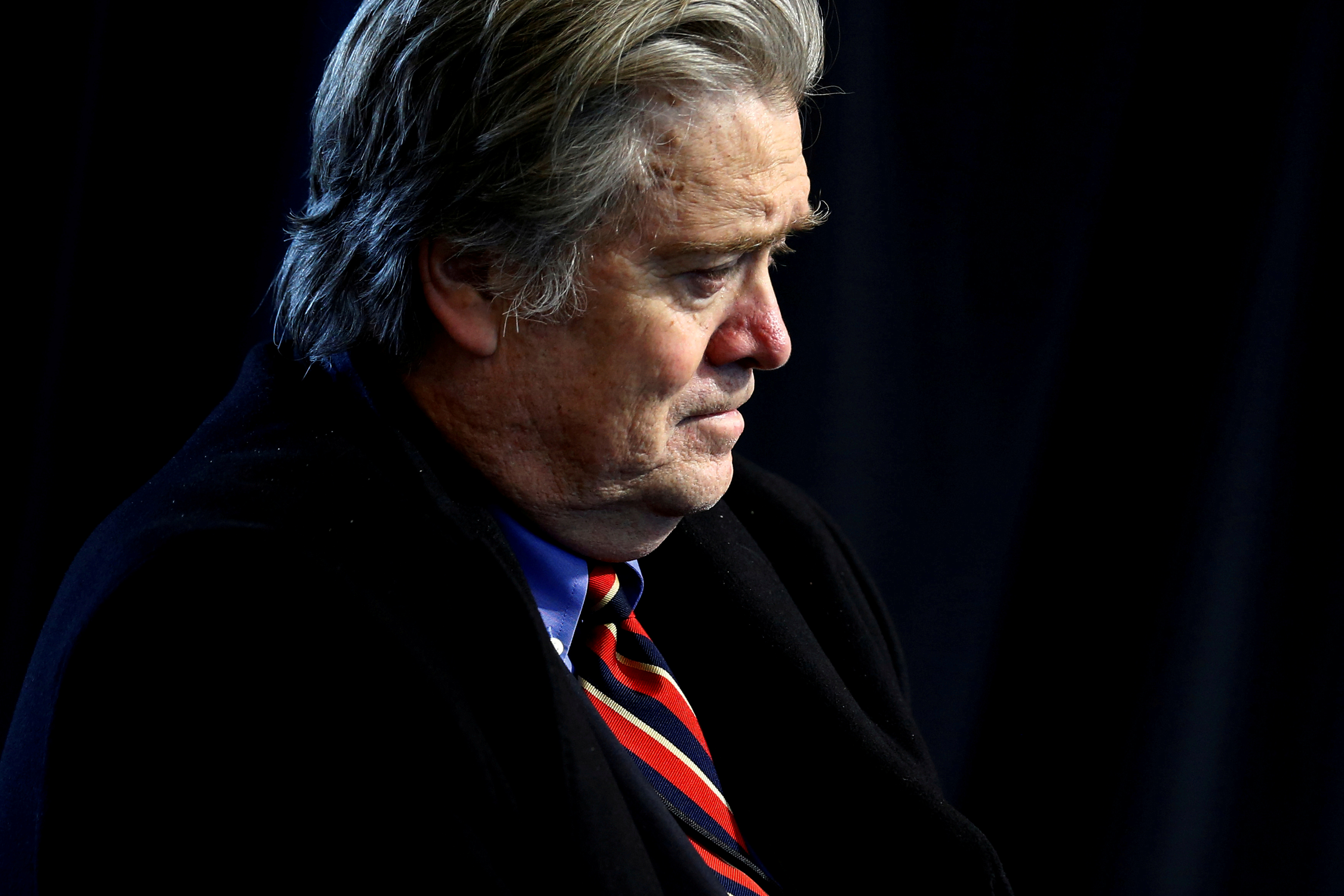Bannon attends a roundtable discussion in Ypsilanti Township