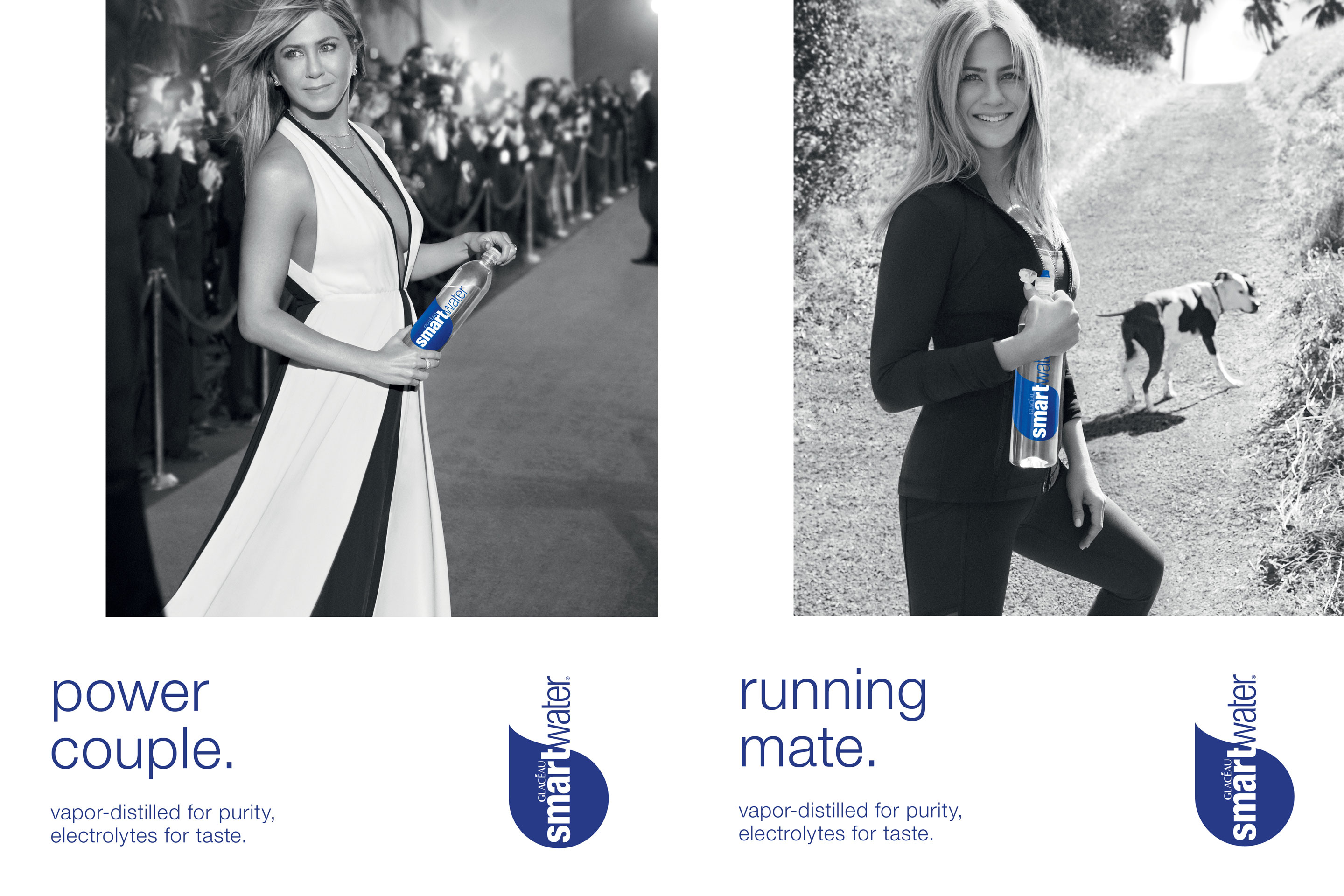 Actress Jennifer Aniston will appear in new ads for Coca-Cola's popular Smartwater premium bottled water brand.
