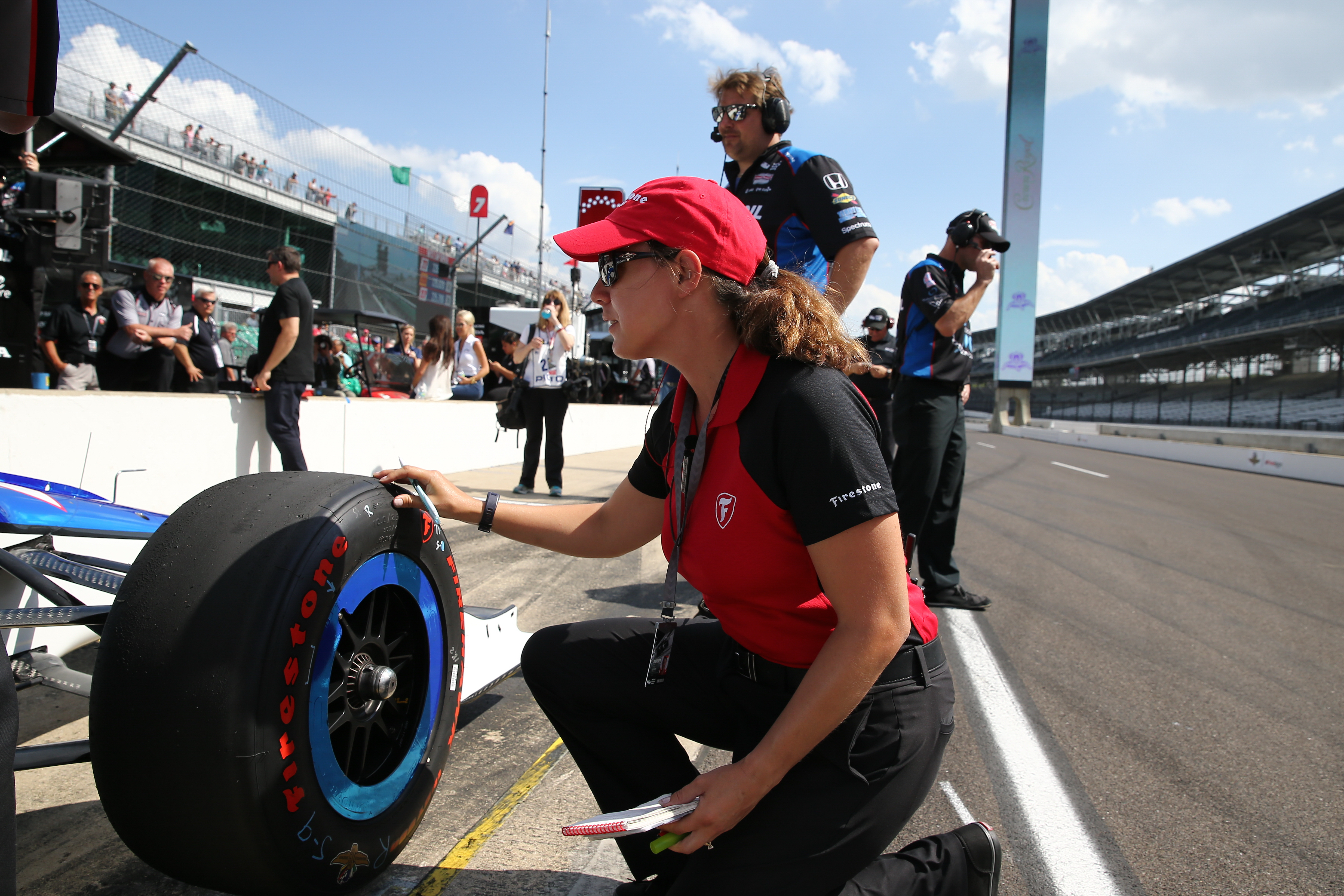 Adams is one of the only female engineers in the IndyCar Series.