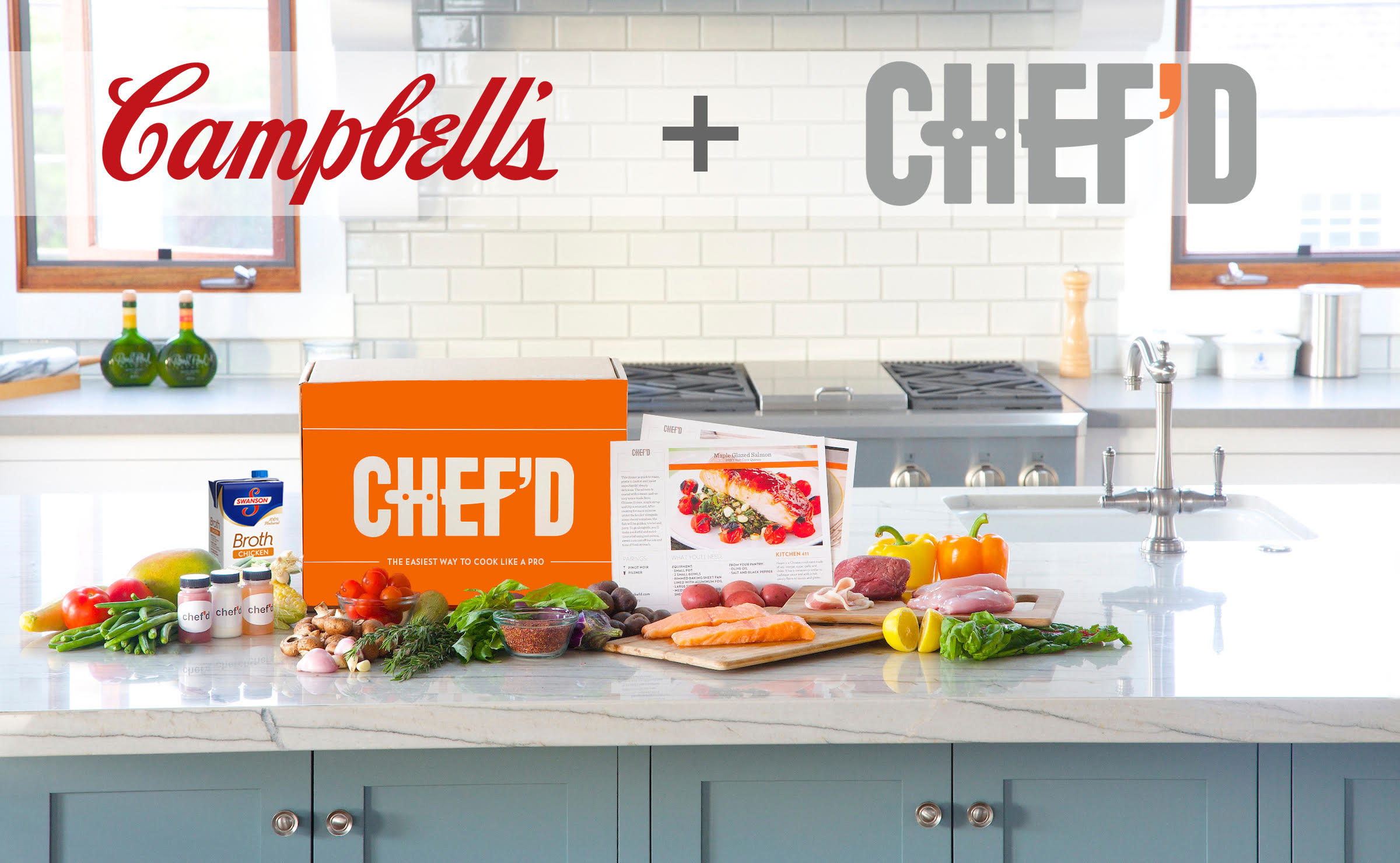 Campbell Soup has invested $10 million in Chef'd, an e-commerce meal kit startup that launched in 2015.