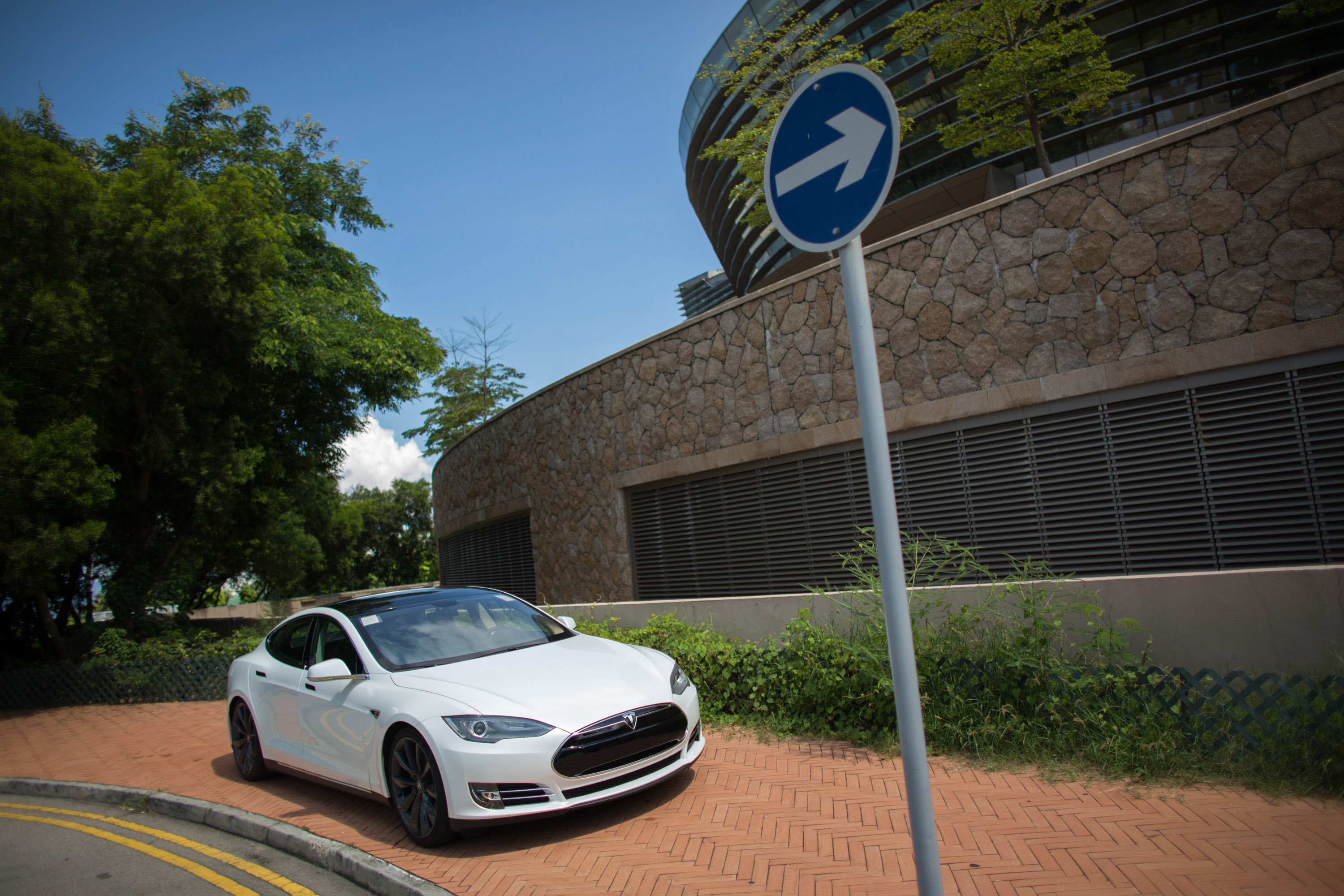 Tesla's Model S Sedan As Company Says It's Received Hundreds Of Orders In Hong Kong