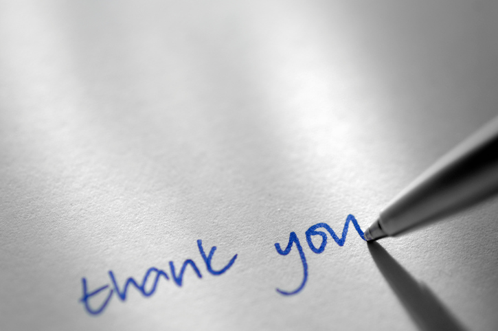 The right thank you note after a job interview can make sure you get called back.