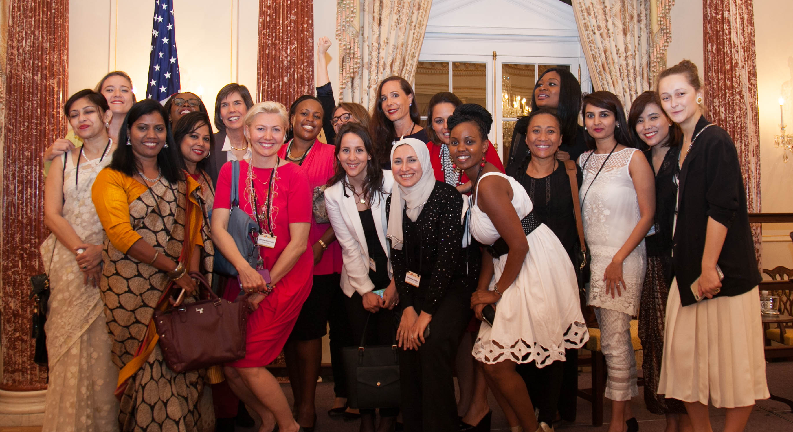 This year's mentees with the Fortune/U.S. State Department Global Women's Mentoring Partnership