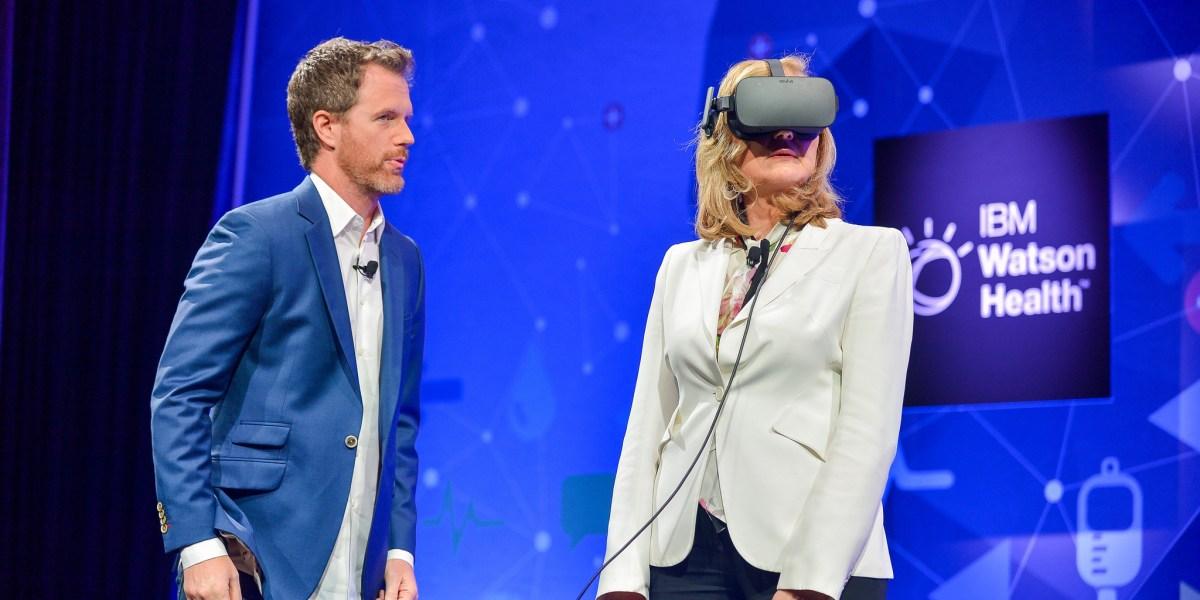 Arianna Huffington Falls 500 Feet In Virtual Reality At