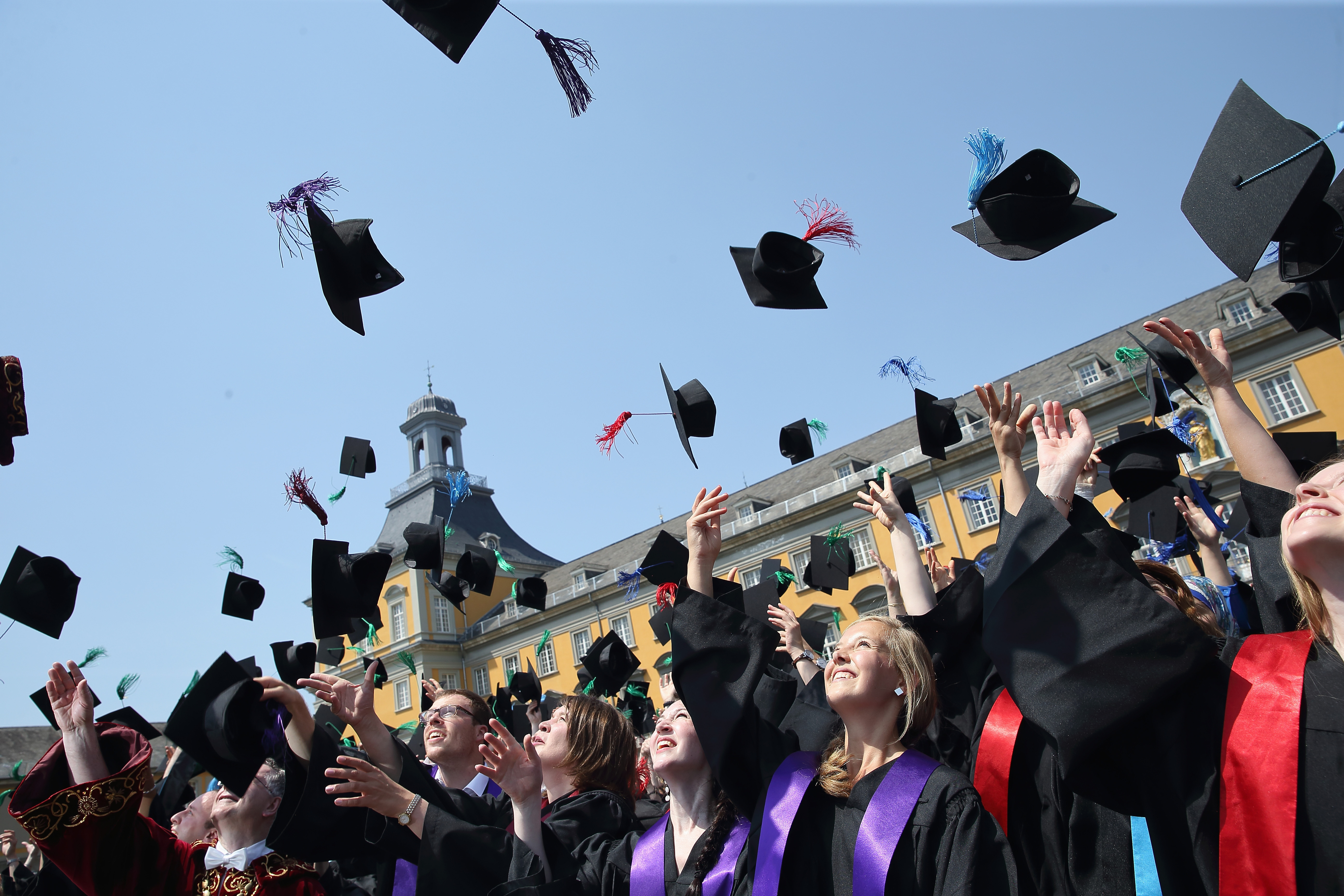 University Students Celebrate Their Graduation