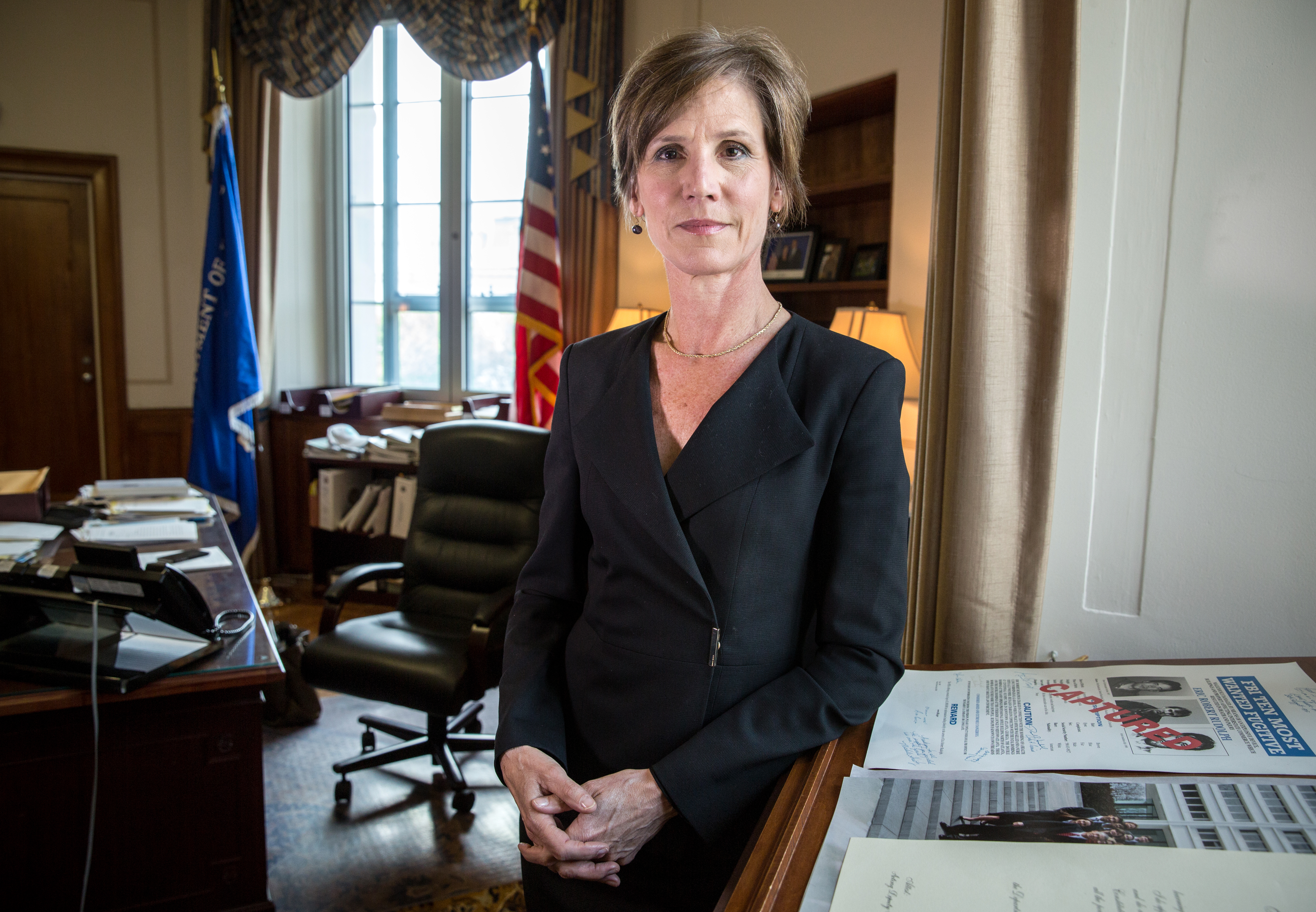 Former acting Attorney General Sally Yates testifies Monday before a Senate Judiciary subcommittee investigating Russian interference in the 2016 presidential election.