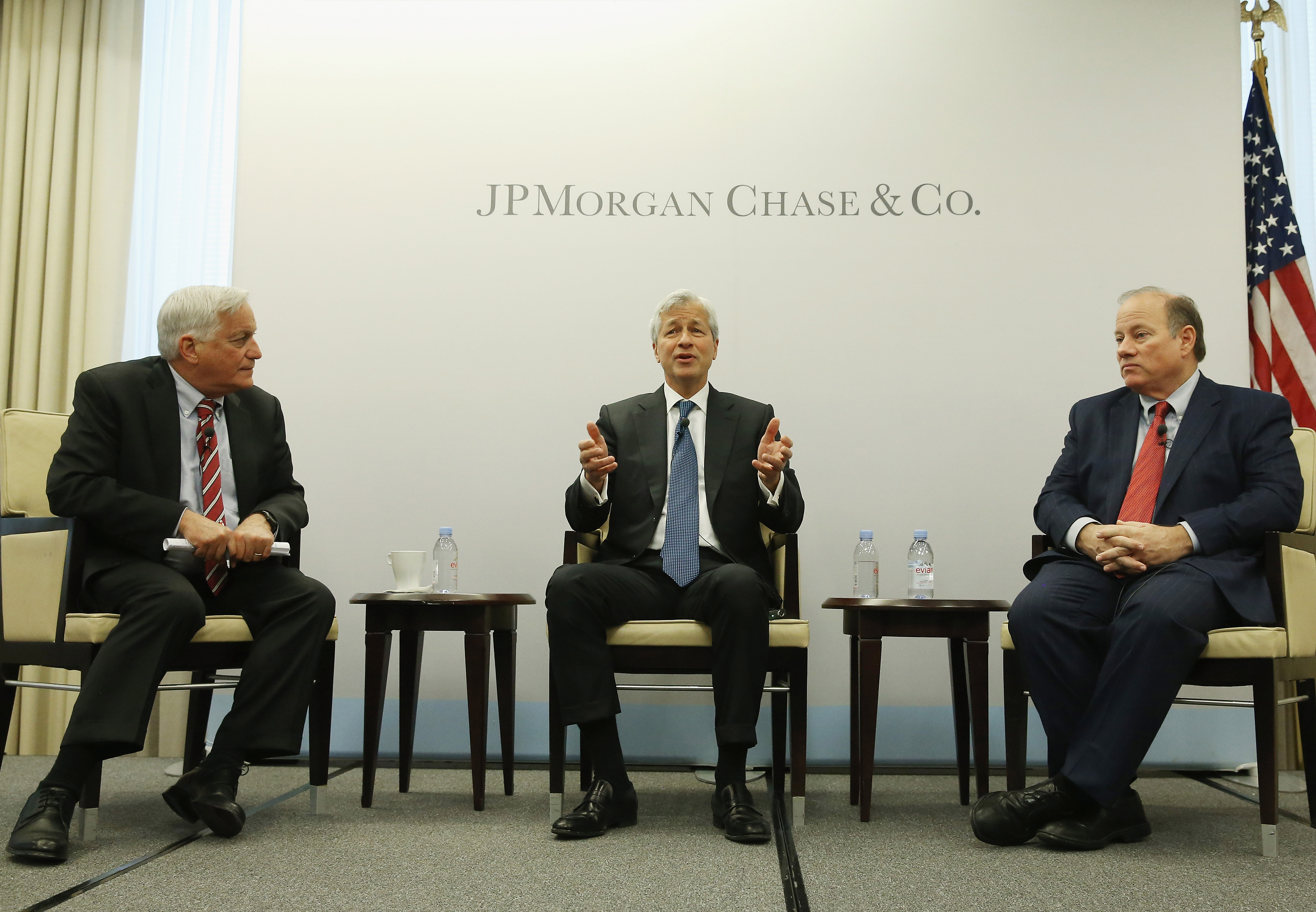 JPMorgan Chase CEO Jamie Dimon And Detroit Mayor Duggan Discuss The Bank's Investment In Detroit
