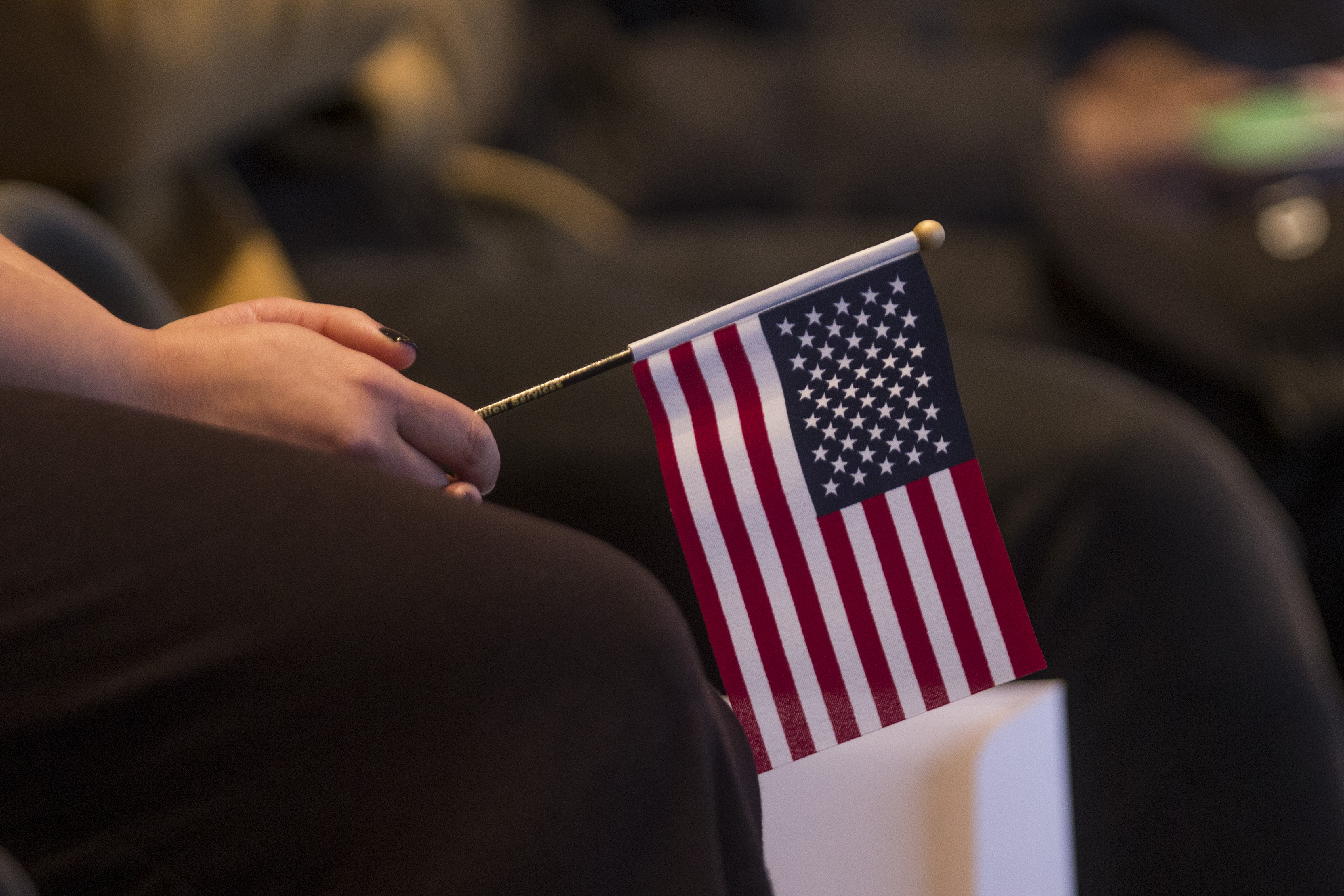 Immigrants Are Sworn In As U.S. Citizens During Naturalization Ceremony