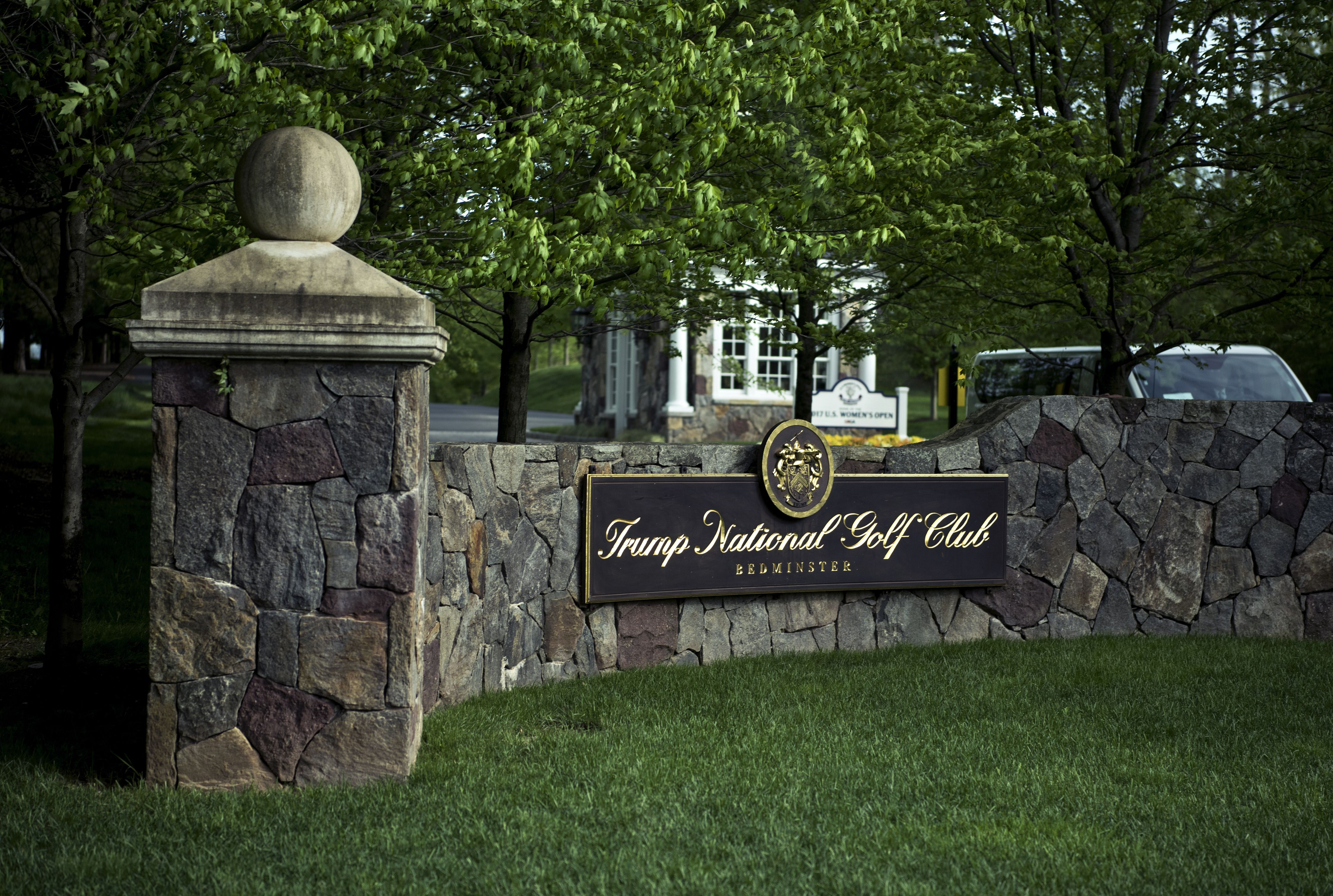 The Trump National Golf Club in Bedminster, N.J.