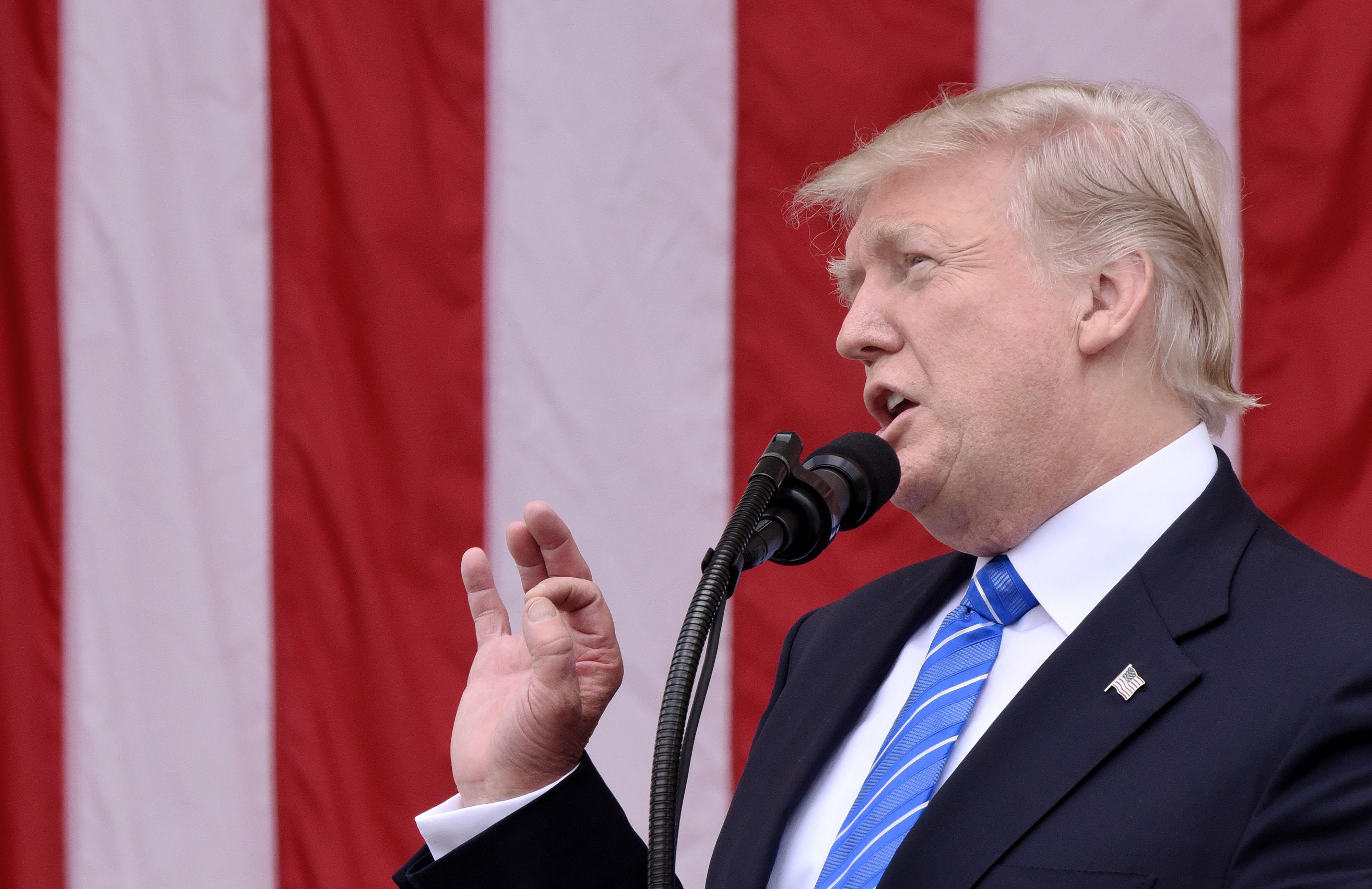 President Trump Visits Arlington National Cemetery On Memorial Day